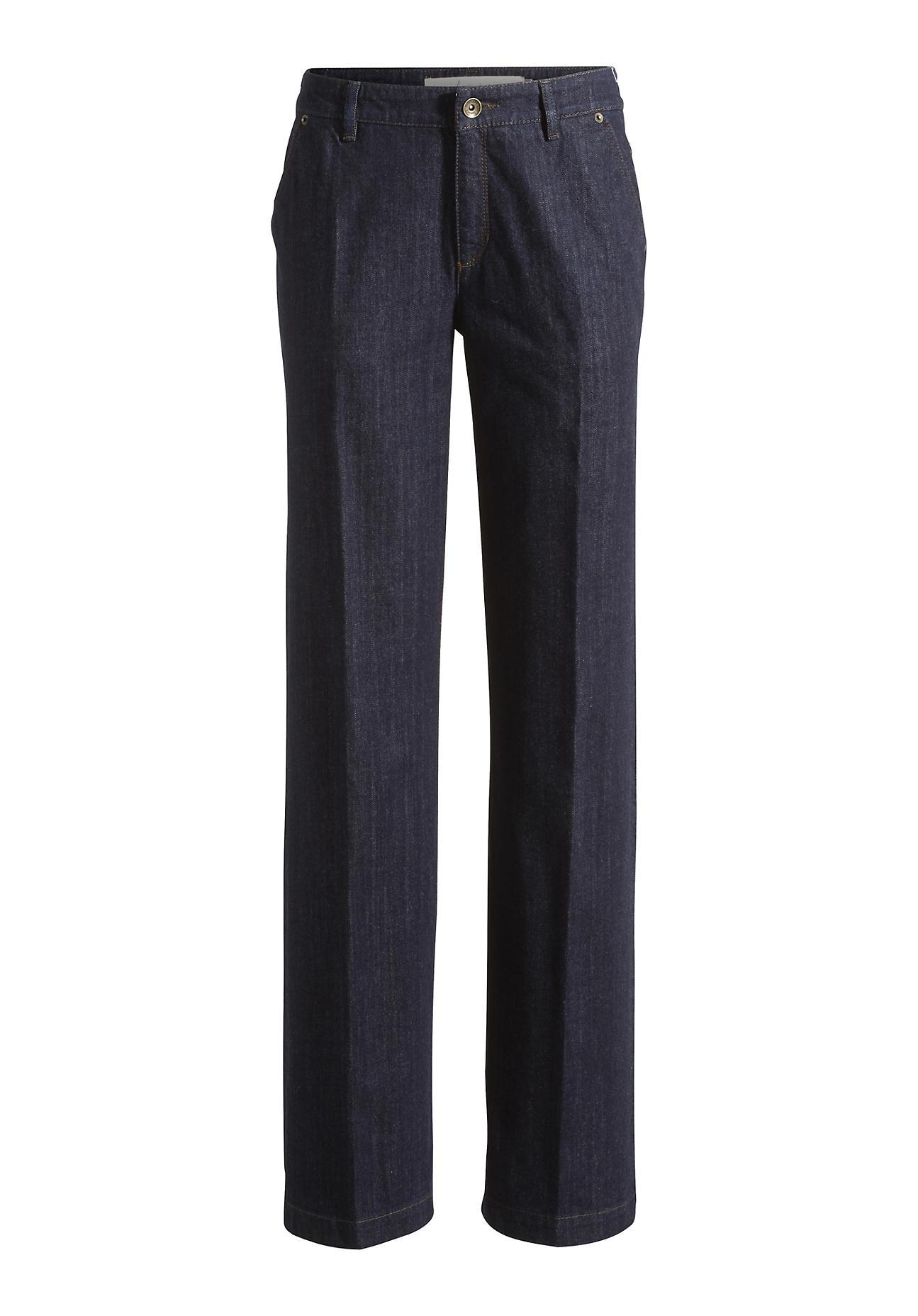 Hosen - hessnatur Damen Jeans Wide Leg aus Bio Baumwolle – blau –  - Onlineshop Hessnatur