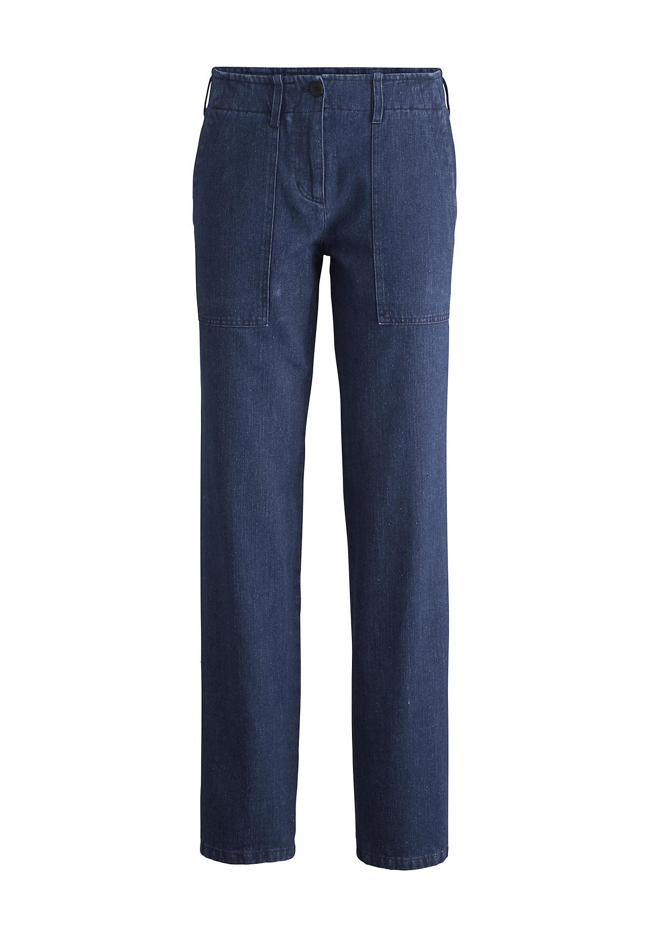 Hosen - hessnatur Damen Jeans aus Hanf mit Bio Baumwolle – blau –  - Onlineshop Hessnatur