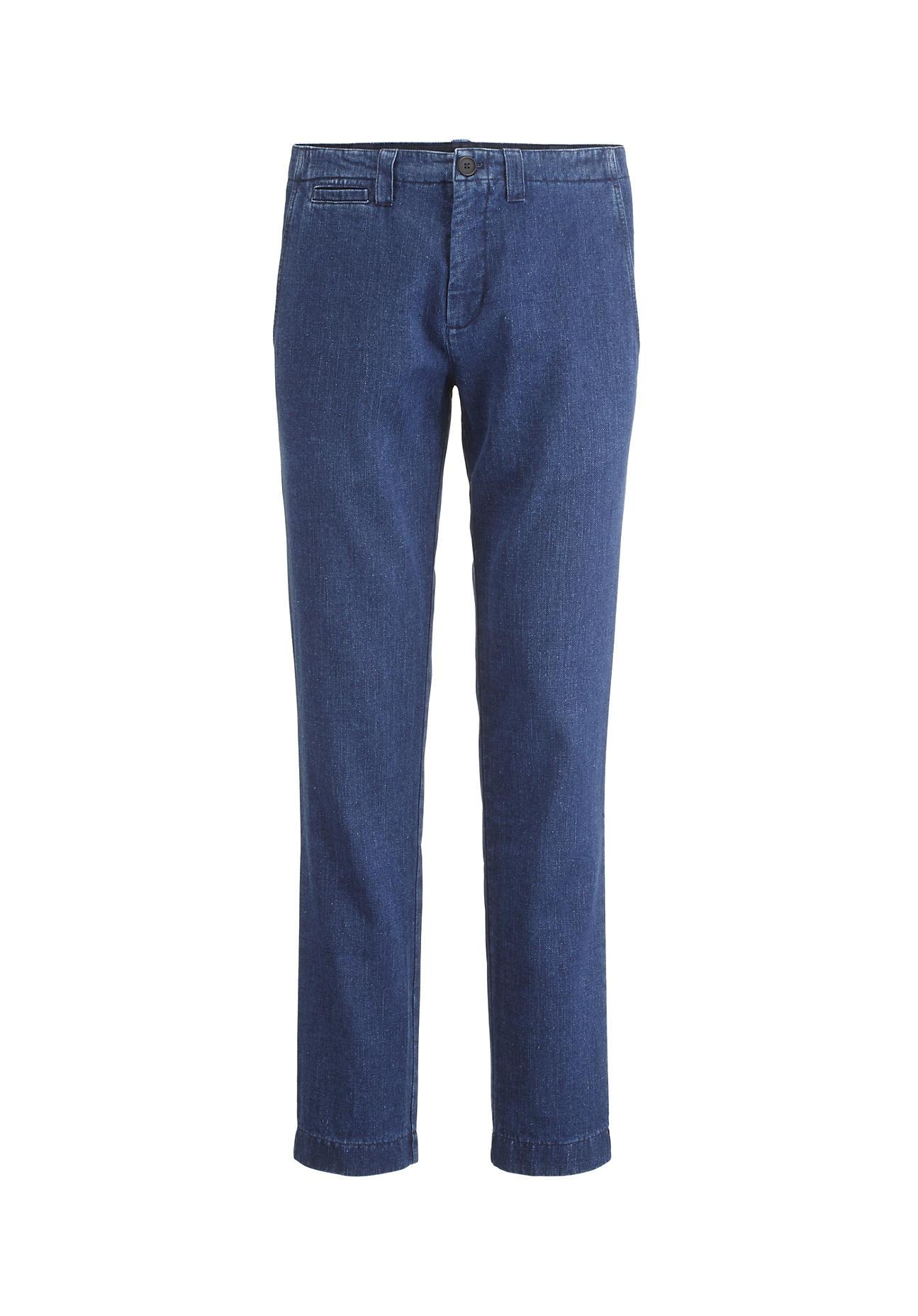 hessnatur Herren Jeans aus Hanf mit Bio-Baumwolle – blau – Größe 46