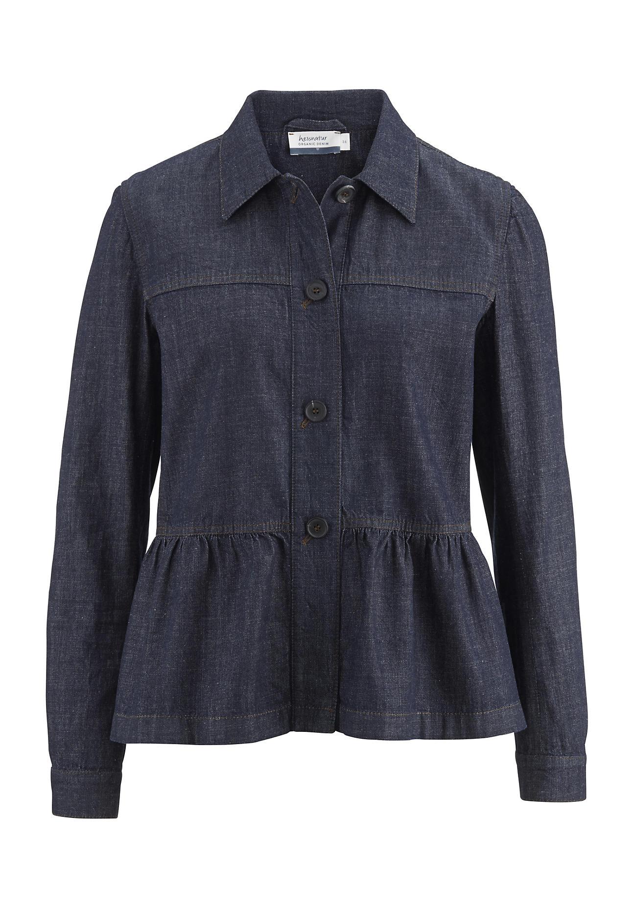 hessnatur Damen Jeansjacke aus Bio-Denim – blau – Größe 36