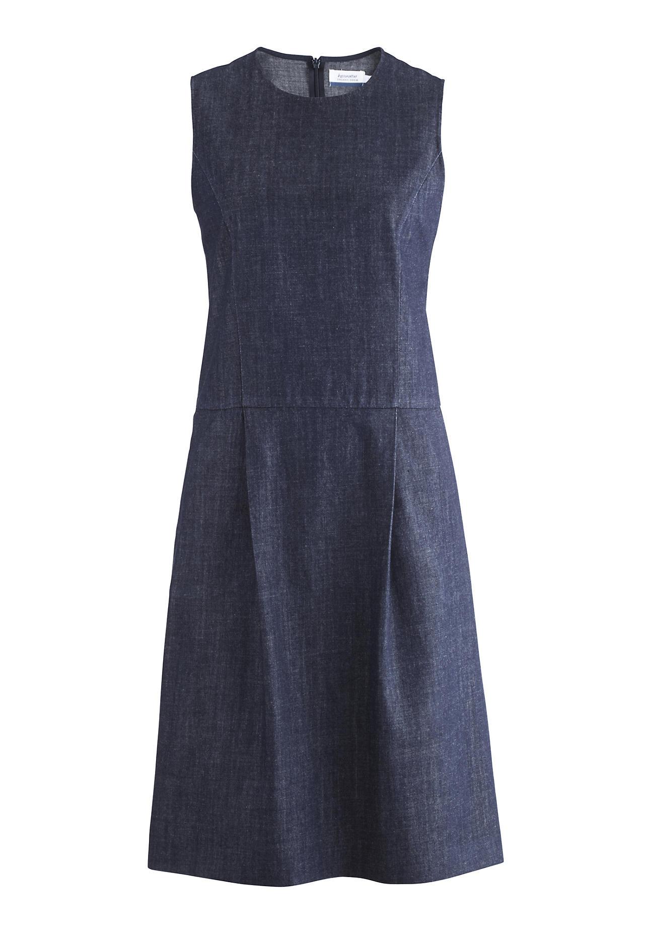 hessnatur Damen Jeanskleid aus Bio Baumwolle – blau – Größe 38