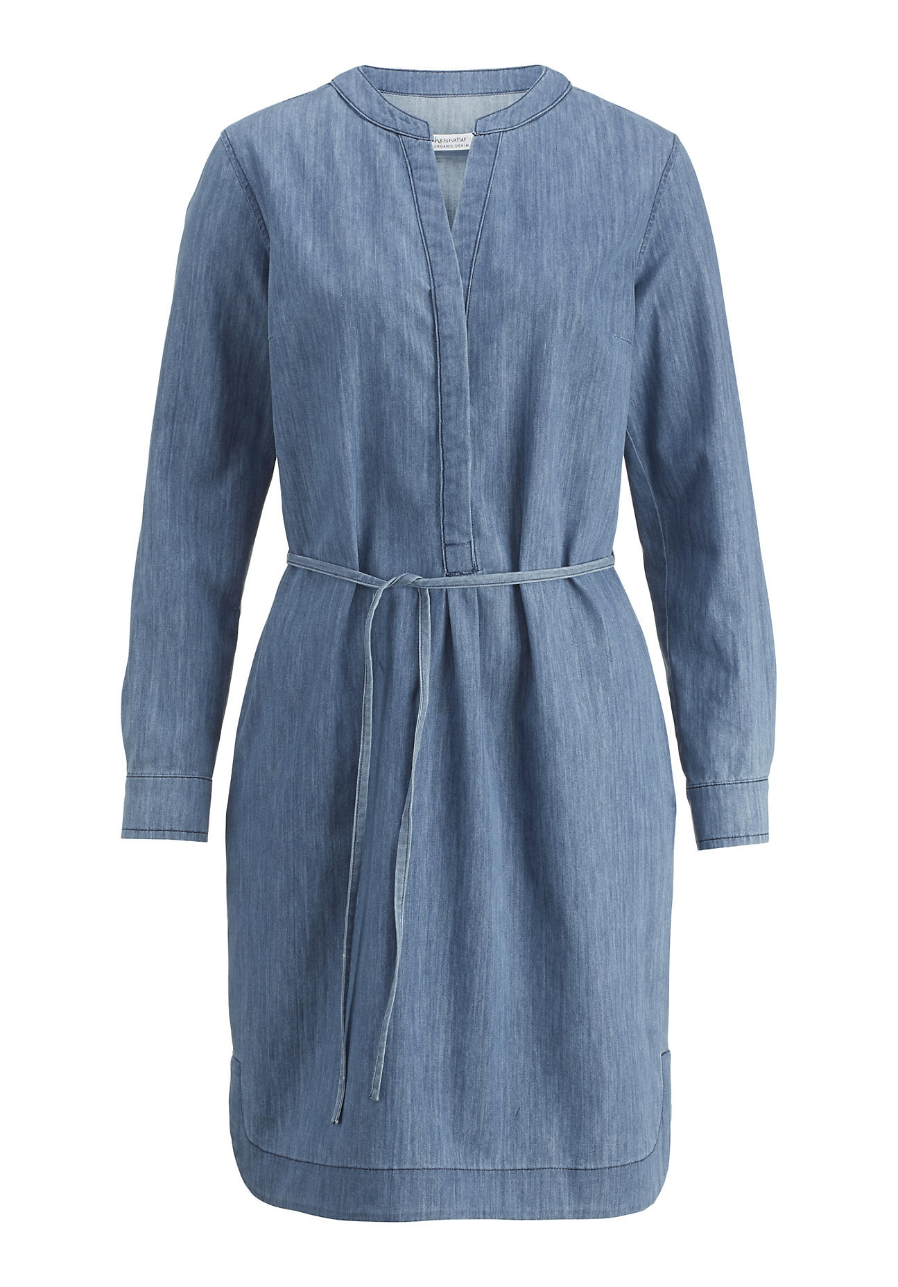 hessnatur -  Damen Jeanskleid aus Bio-Baumwolle – blau – Größe 40