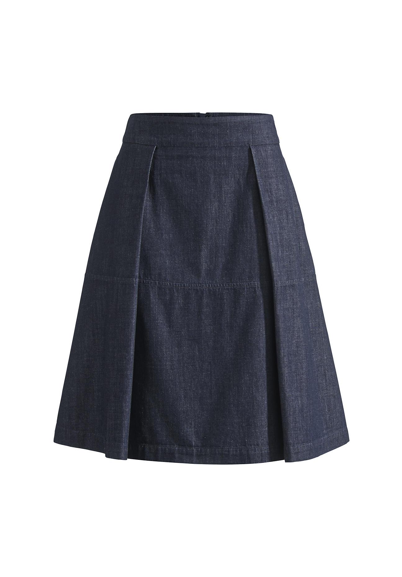 hessnatur Damen Jeansrock aus Bio Baumwolle – blau – Größe 38