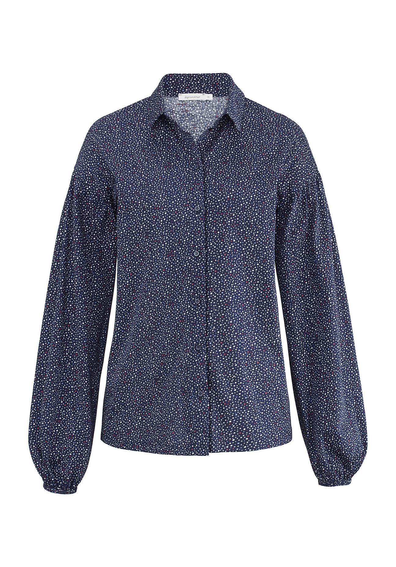 hessnatur Damen Jersey-Bluse aus Bio-Baumwolle – bunt – Größe 34