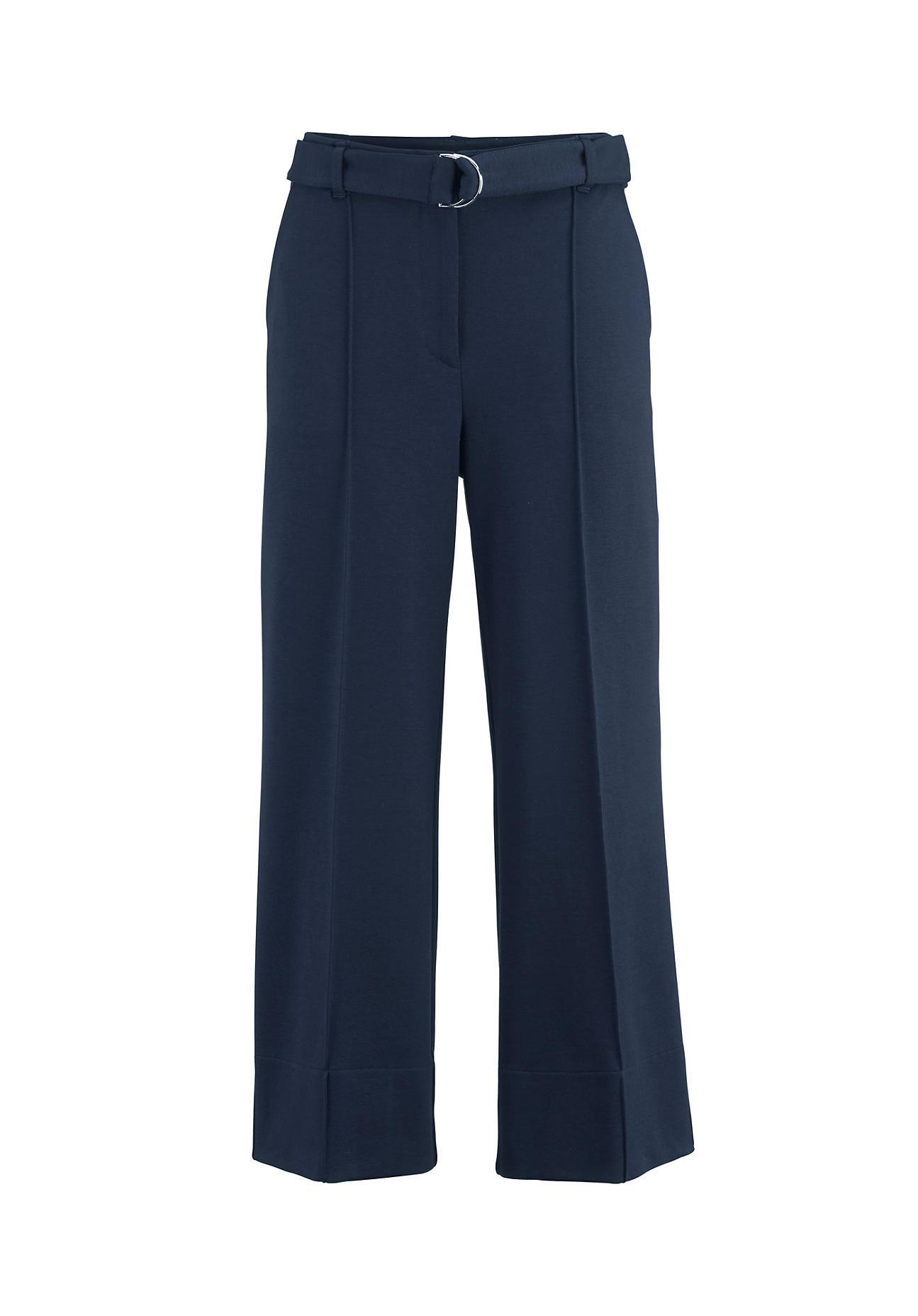Hosen - hessnatur Damen Jersey Culotte aus Bio Baumwolle mit TENCEL™Modal – blau –  - Onlineshop Hessnatur