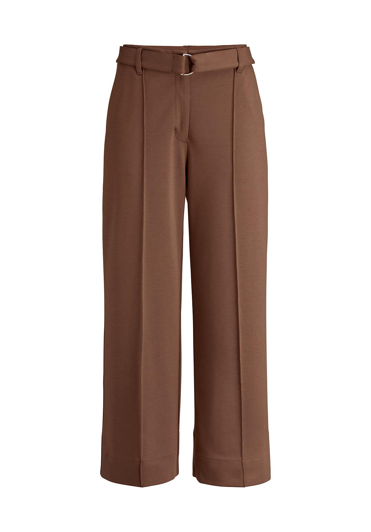 Hosen - hessnatur Damen Jersey Culotte aus Bio Baumwolle mit TENCEL™Modal – braun –  - Onlineshop Hessnatur