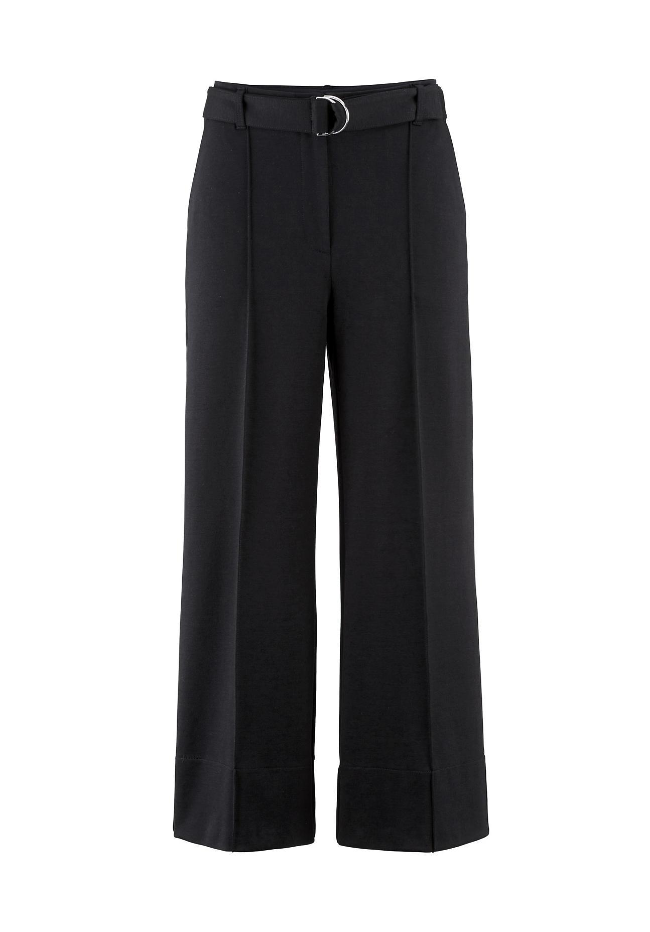 Hosen - hessnatur Damen Jersey Culotte aus Bio Baumwolle mit TENCEL™Modal – schwarz –  - Onlineshop Hessnatur