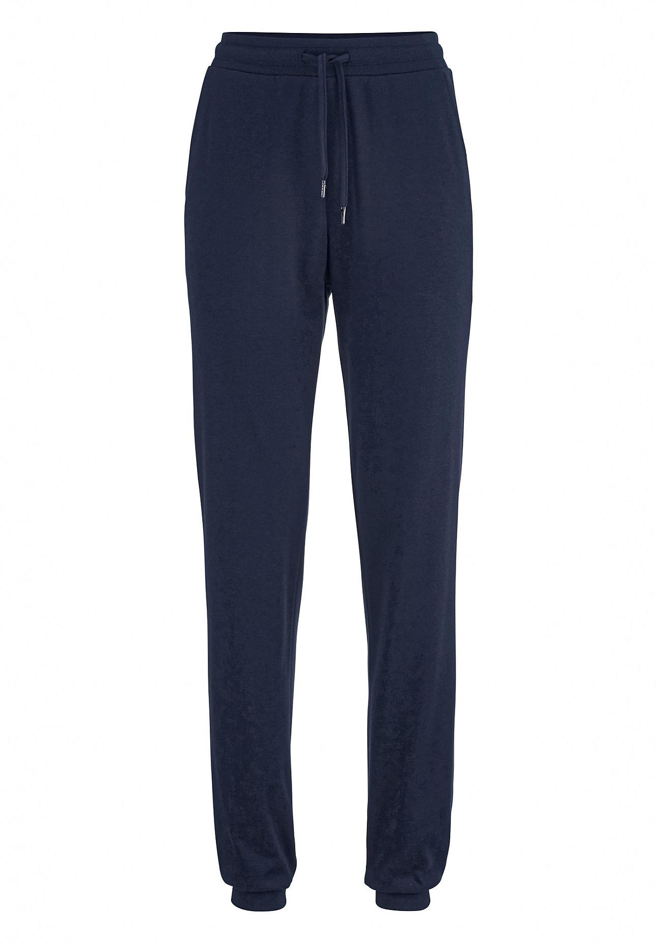 hessnatur Loungewear Jersey-Hose aus Bio-Baumwolle und TENCEL™Modal – blau – Größe 36