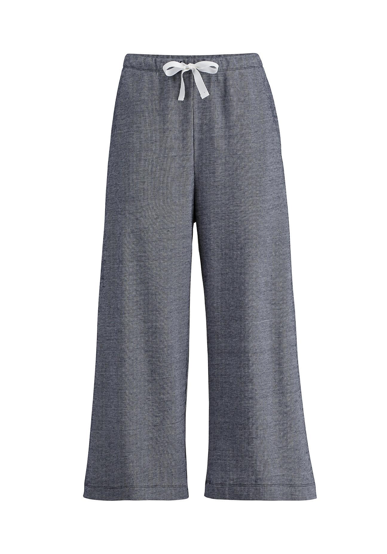 Hosen - hessnatur Damen Jersey Hose aus Bio Baumwolle – blau –  - Onlineshop Hessnatur