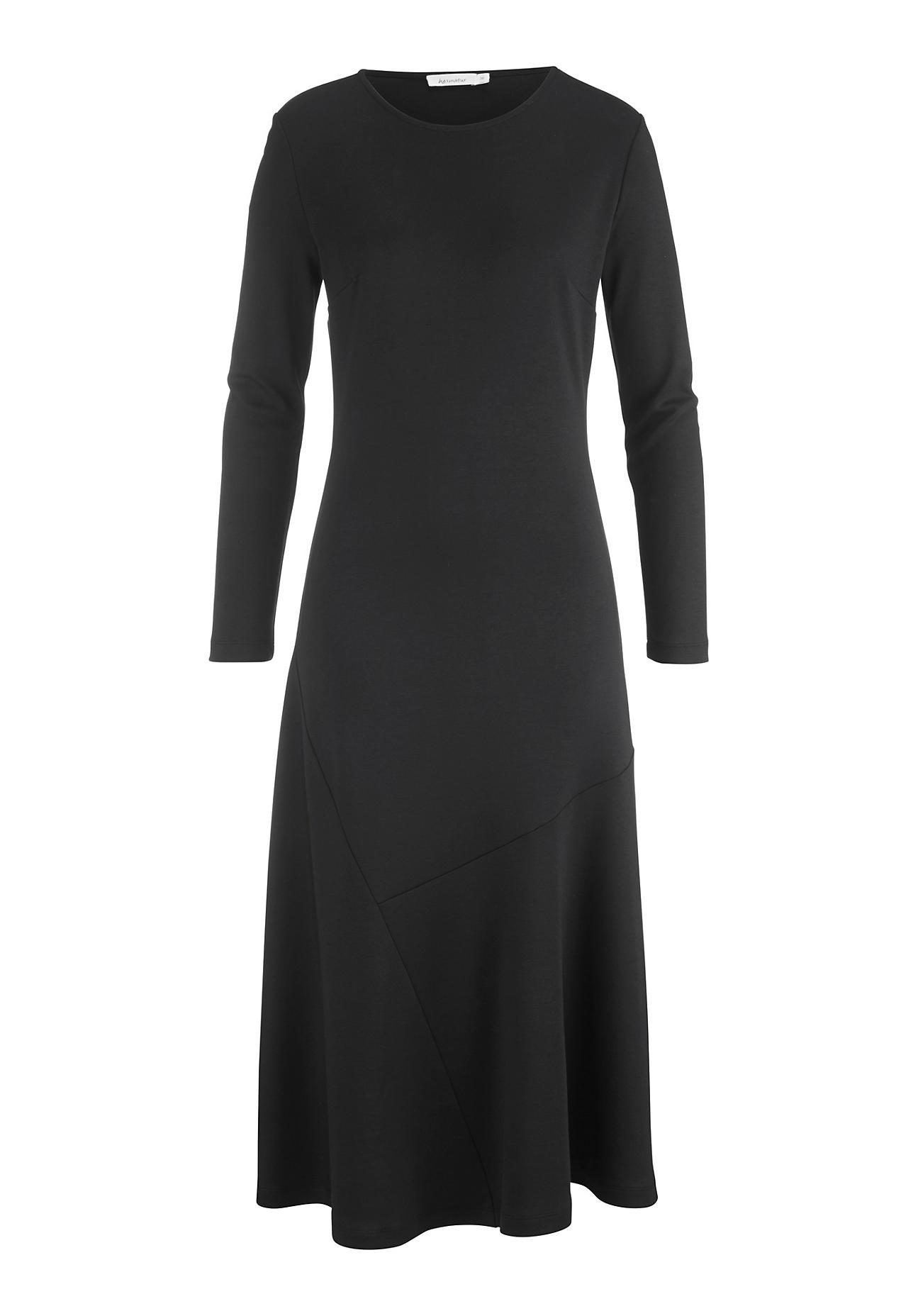 Kleider - hessnatur Damen Jersey Kleid aus Bio Baumwolle und Modal – schwarz –  - Onlineshop Hessnatur