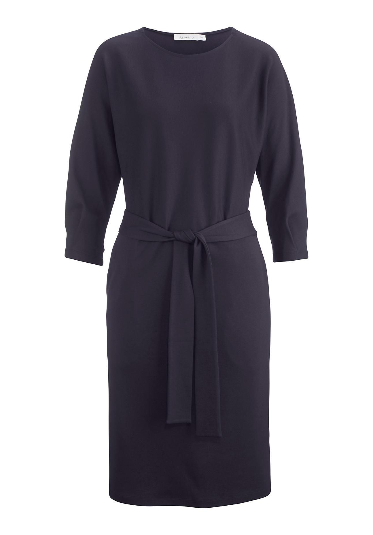 Kleider - hessnatur Damen Jersey Kleid aus Bio Baumwolle und TENCEL™Modal – lila –  - Onlineshop Hessnatur