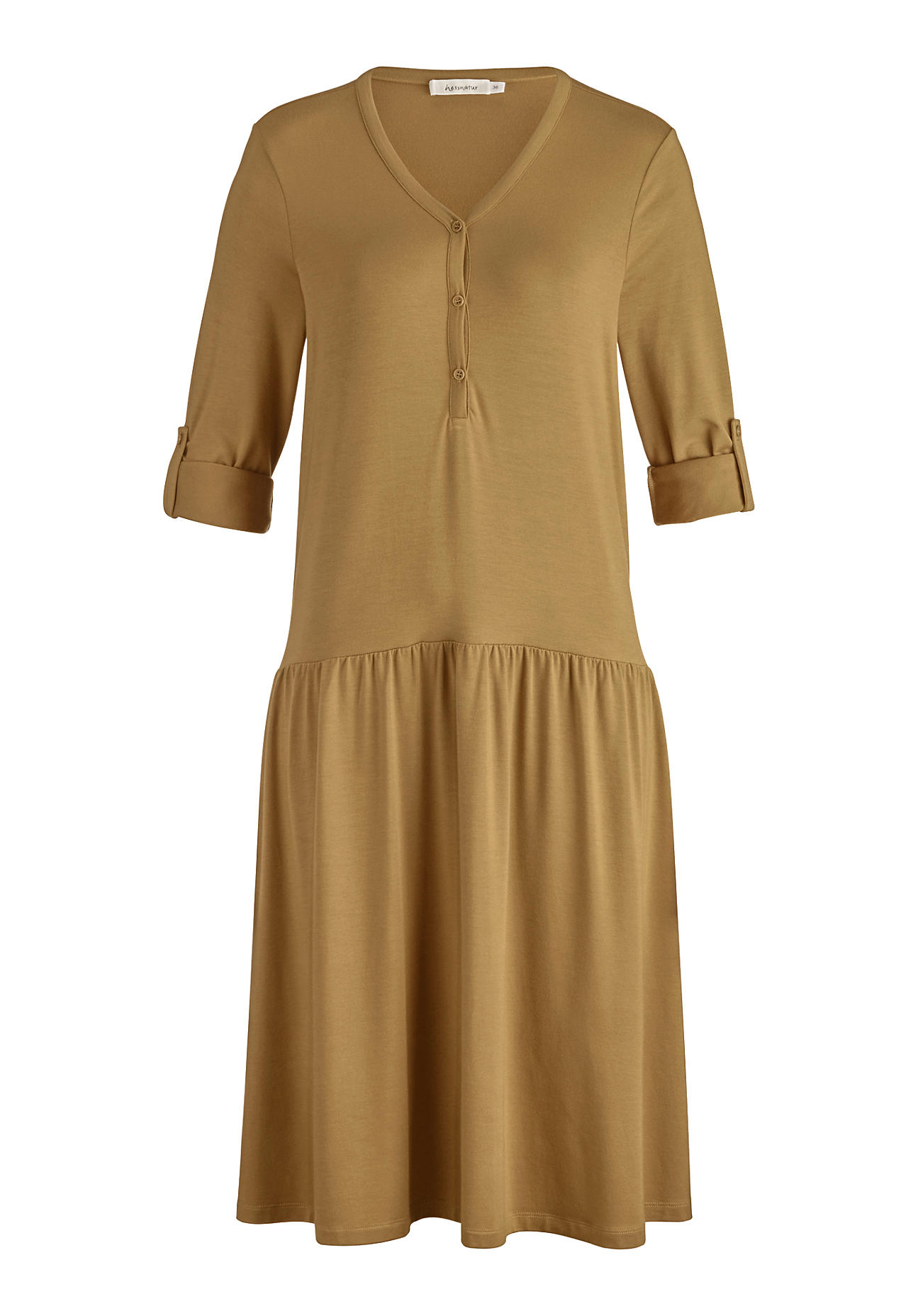 hessnatur Damen Jersey-Kleid aus TENCEL™Modal – braun – Größe 36