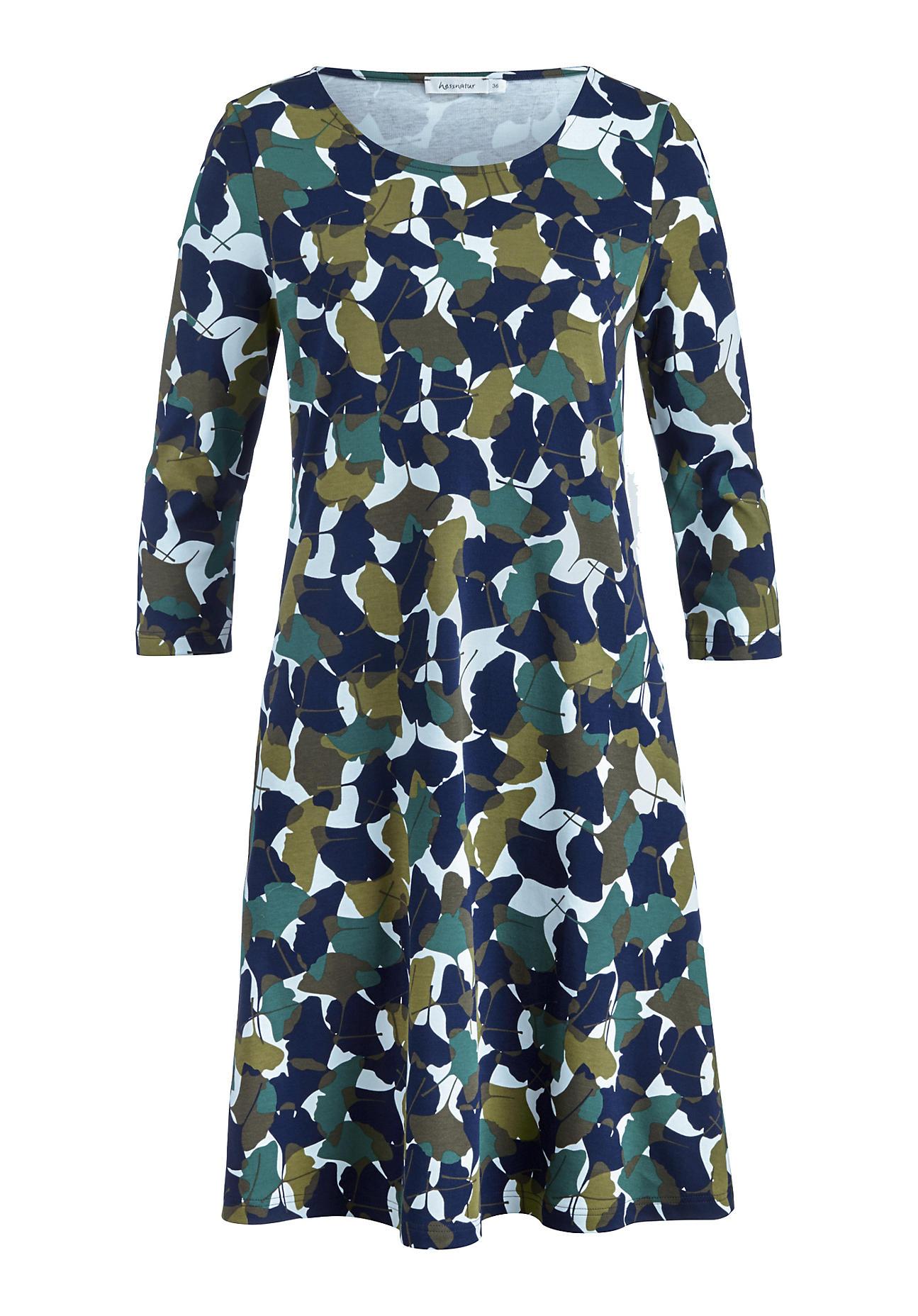 hessnatur Damen Jersey-Kleid aus Bio-Baumwolle – grün – Größe 36