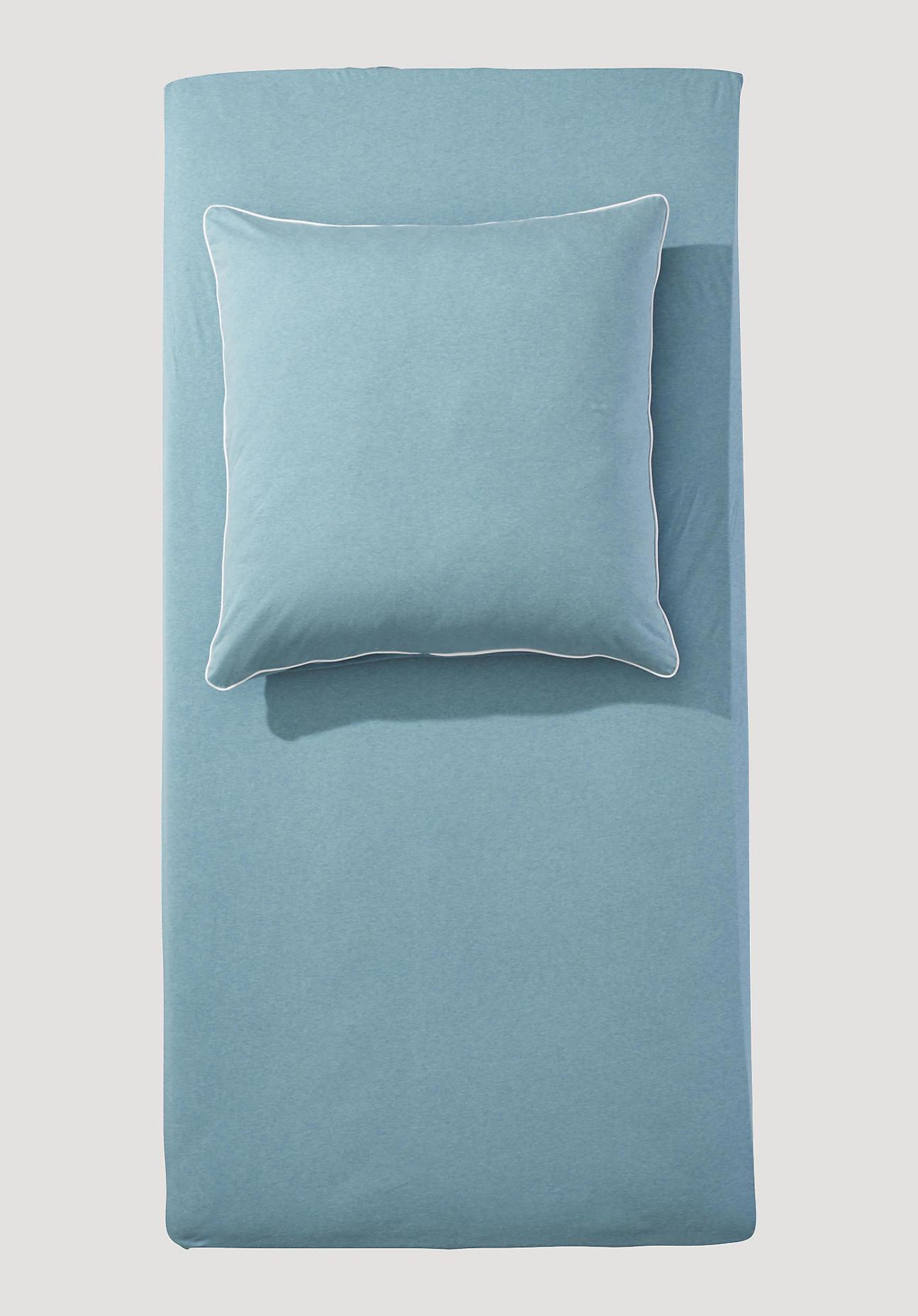 hessnatur Jersey-Spannbettlaken Liam aus Bio-Baumwolle - grün Größe 180-200x200 cm