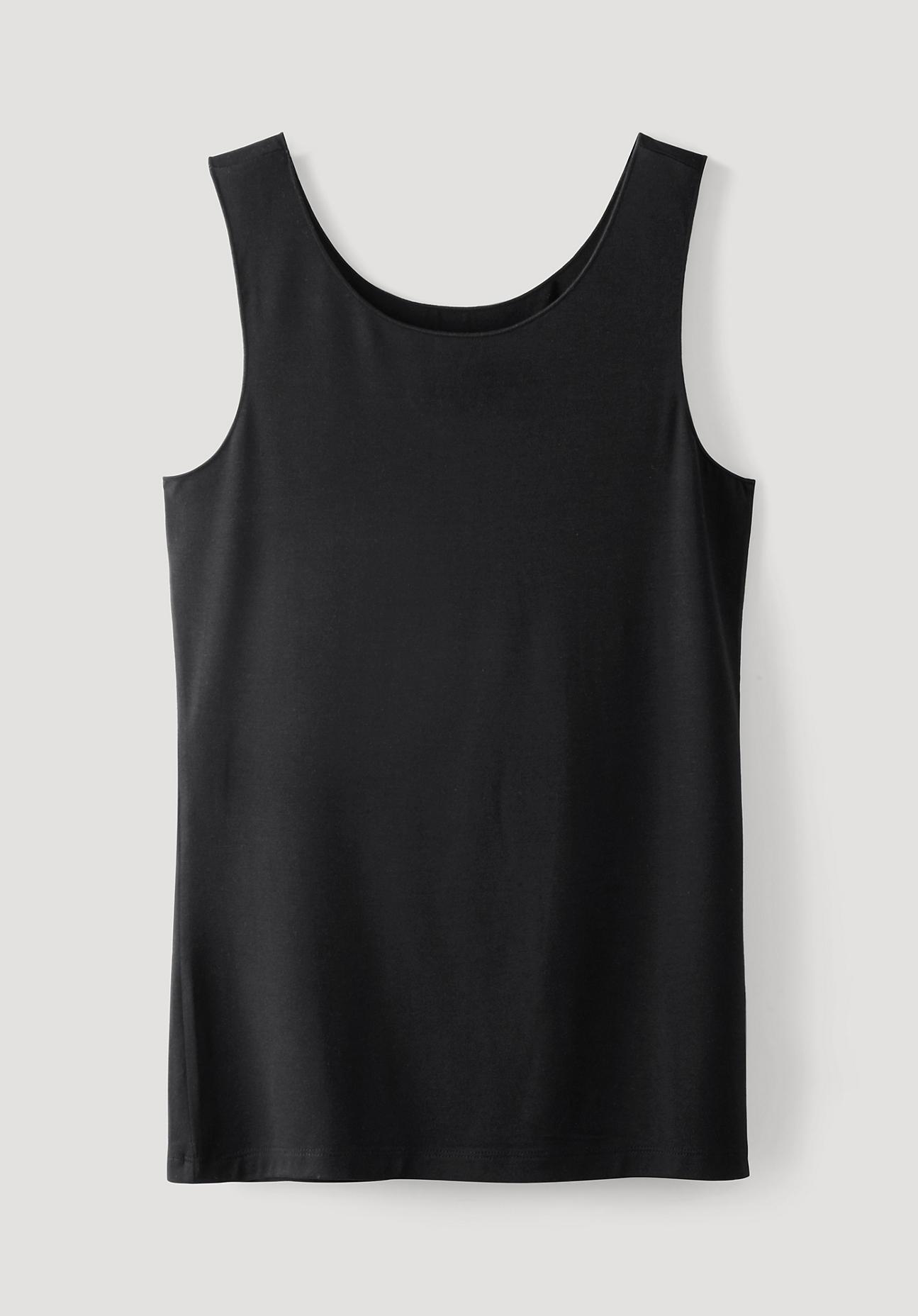 hessnatur Damen Jersey-Top aus TENCEL™Modal – schwarz – Größe 36