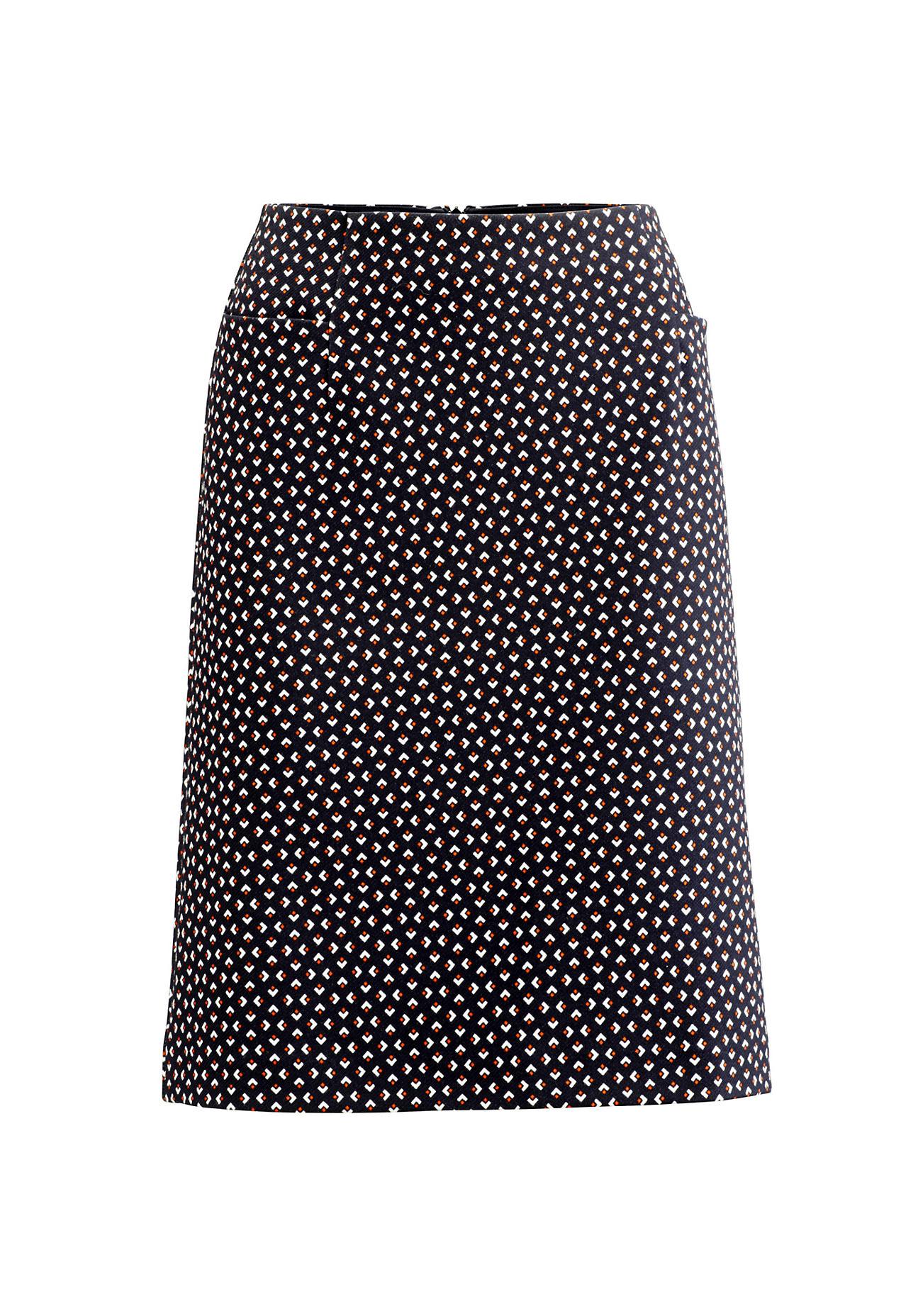hessnatur Damen Jerseyrock aus Bio-Baumwolle – bunt – Größe 46 | Bekleidung > Röcke > Jerseyröcke | Gemustert | Baumwolle - Twill | hessnatur