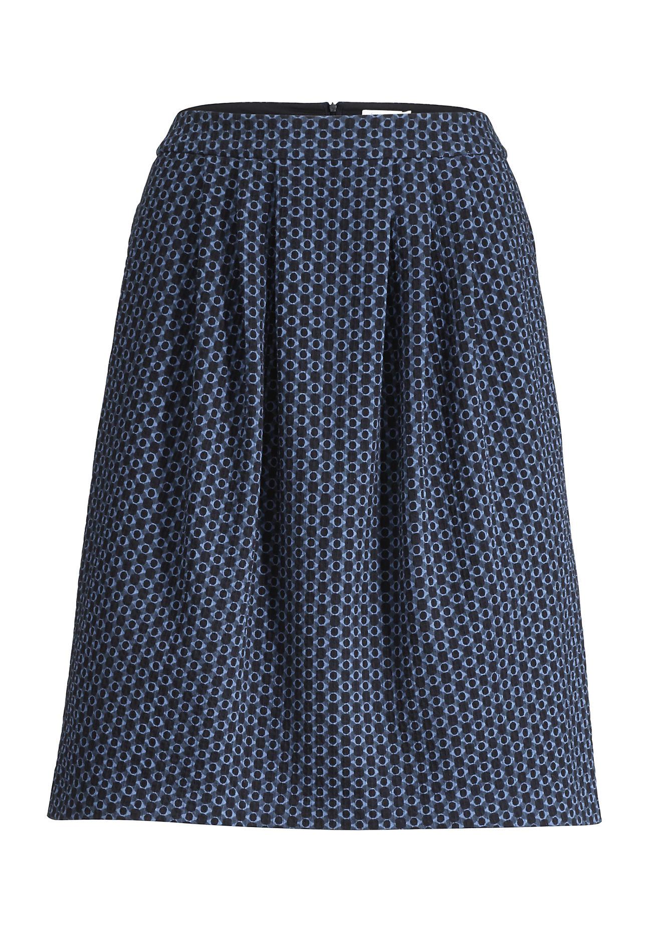hessnatur -  Damen Jerseyrock aus Bio-Baumwolle – blau – Größe 46