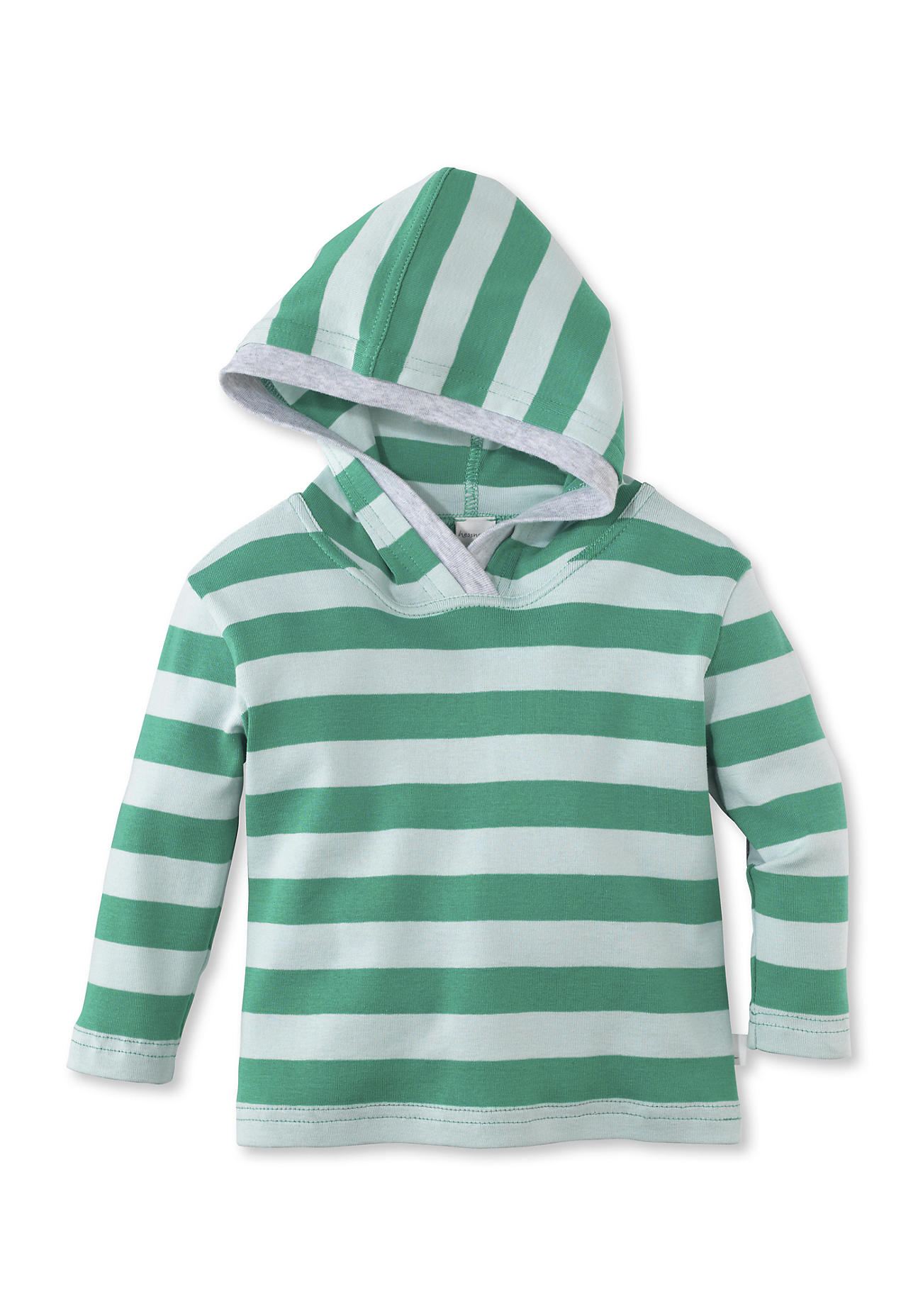 hessnatur Baby Kapuzen-Shirt aus Bio-Baumwolle – grün – Größe 74/80