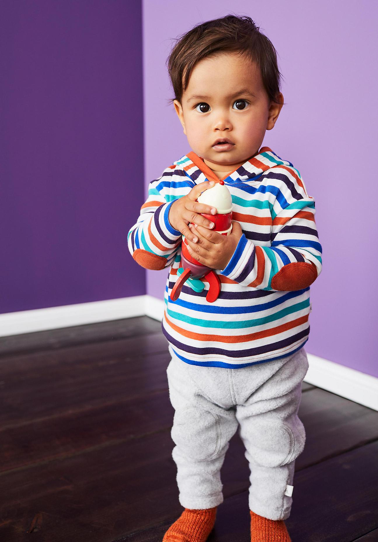 hessnatur Baby Kapuzen-Shirt aus Bio-Baumwolle – bunt – Größe 74/80