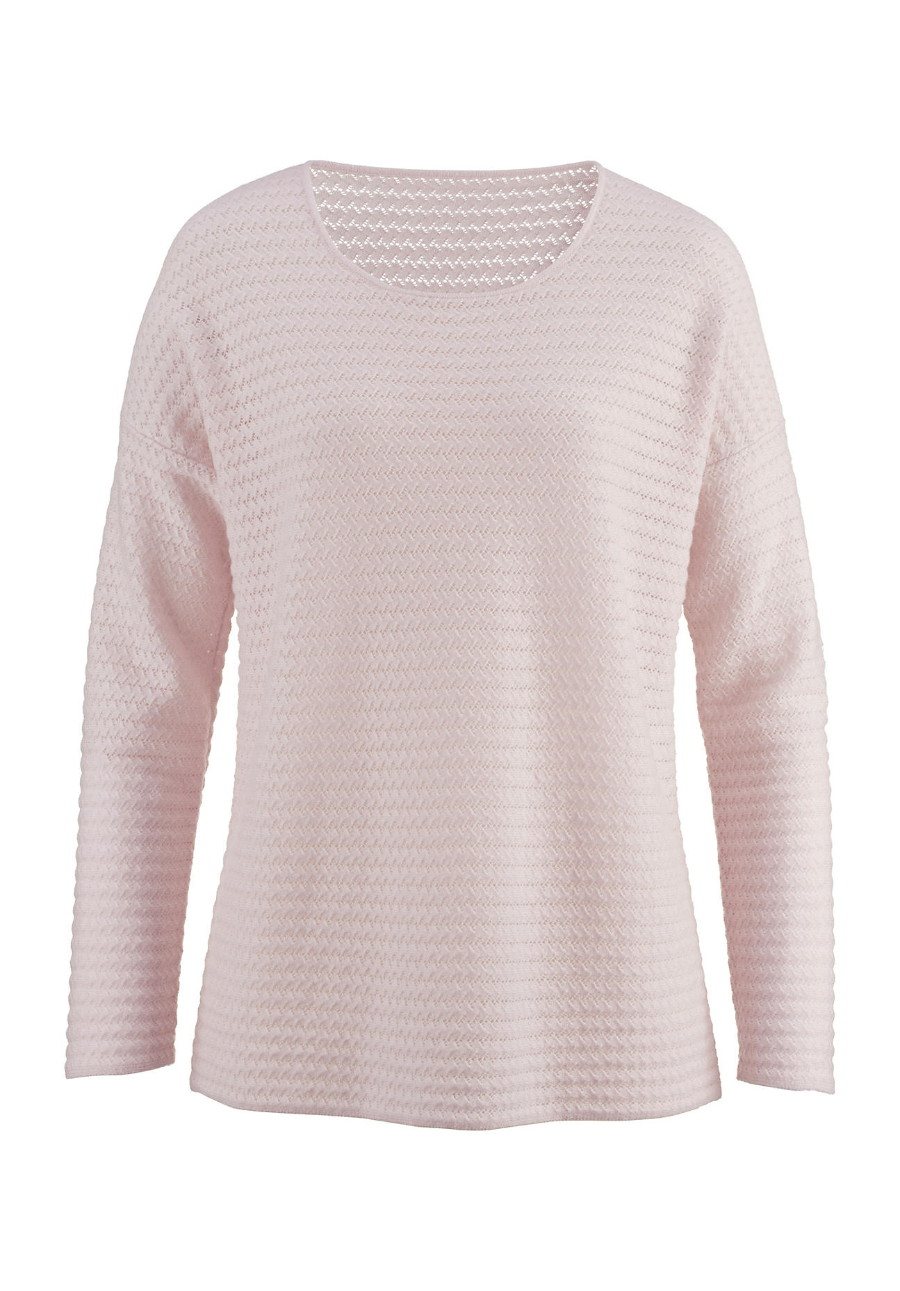 hessnatur Damen Kaschmir-Pullover – rosa – Größe L