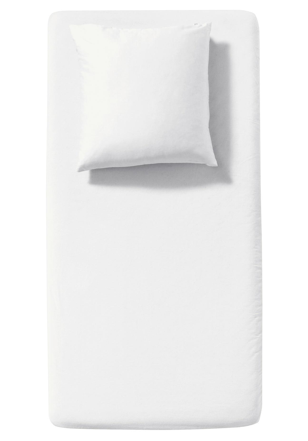 Image of hessnatur Baby Kinder Biber-Spannbettlaken aus Bio-Baumwolle – weiß – Größe 45x90cm-50x95cm