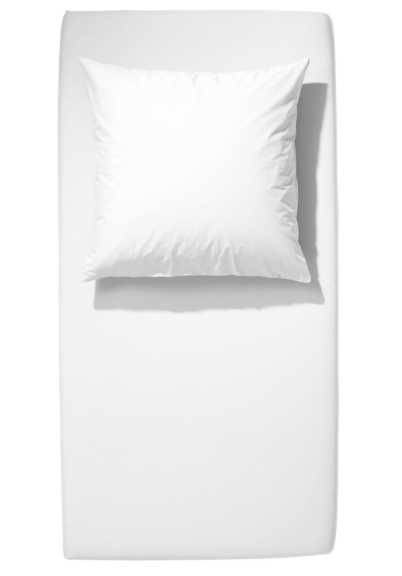 Image of hessnatur Baby Kinder Jersey-Spannbettlaken aus Bio-Baumwolle – weiß – Größe 40x90 cm