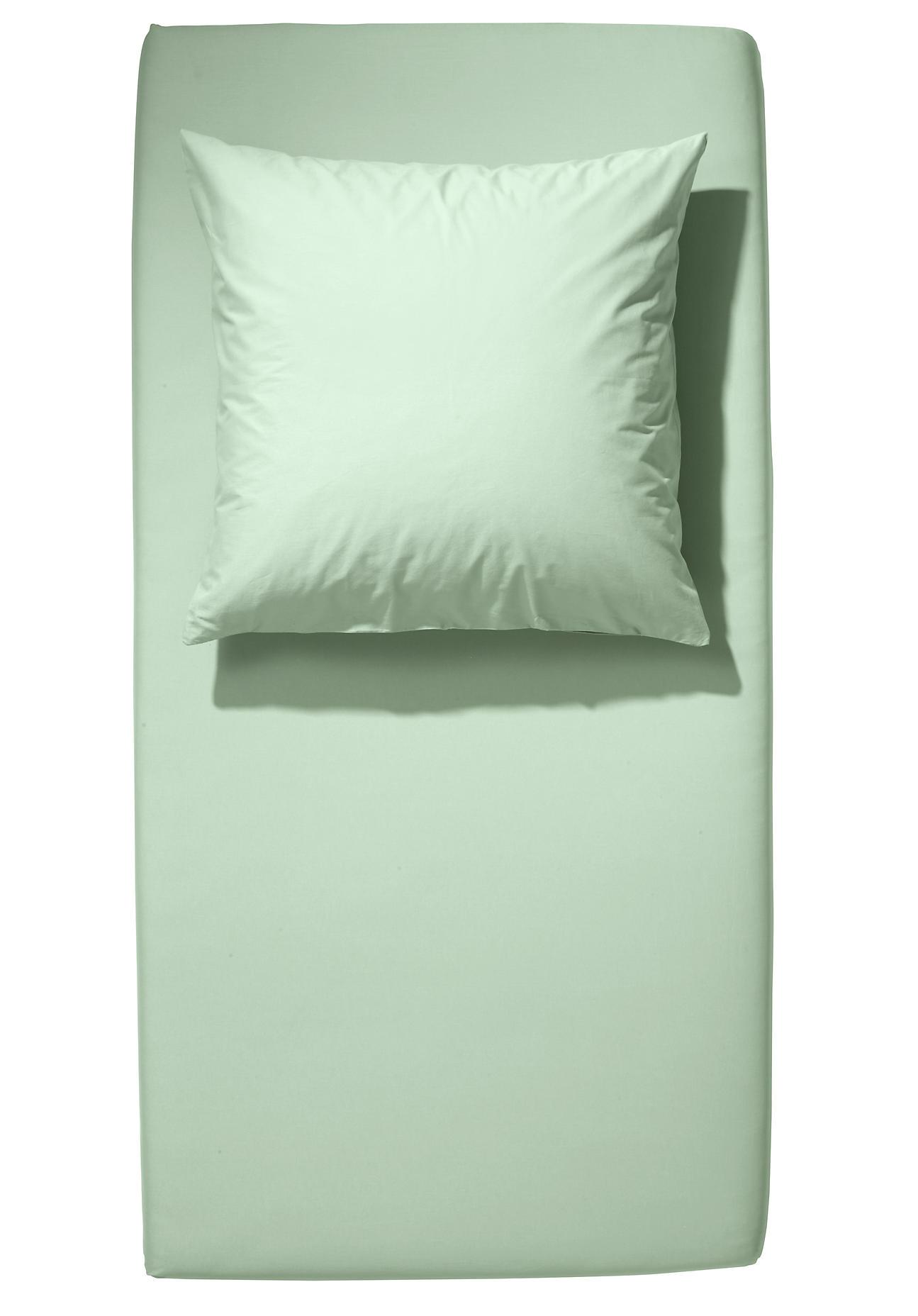 Image of hessnatur Baby Kinder Jersey-Spannbettlaken aus Bio-Baumwolle – grün – Größe 40x90 cm