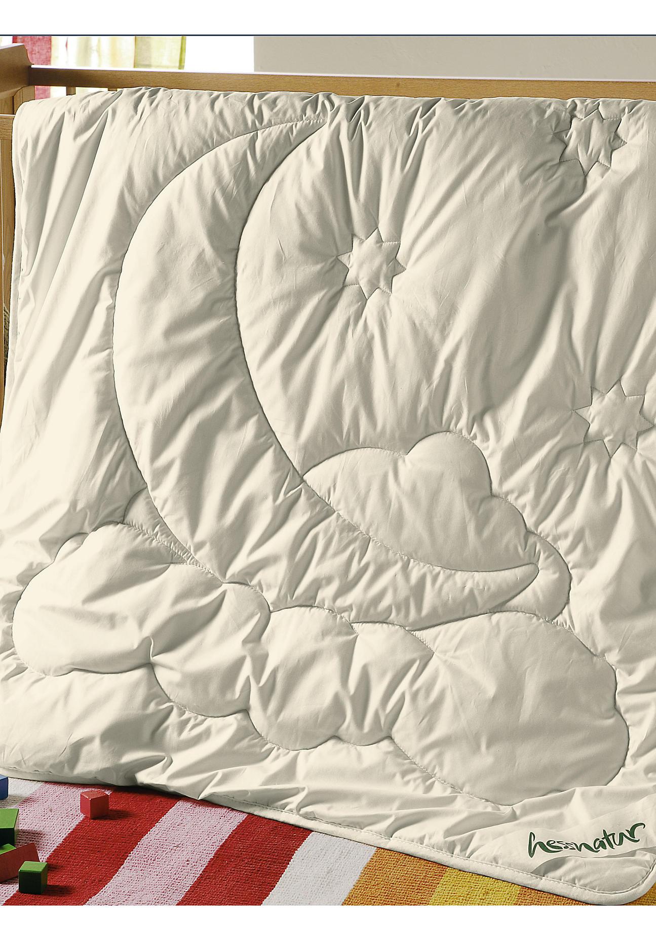 Image of hessnatur Baby Kinderdecke mit reiner Schurwolle – naturfarben – Größe 080x080 cm 300g