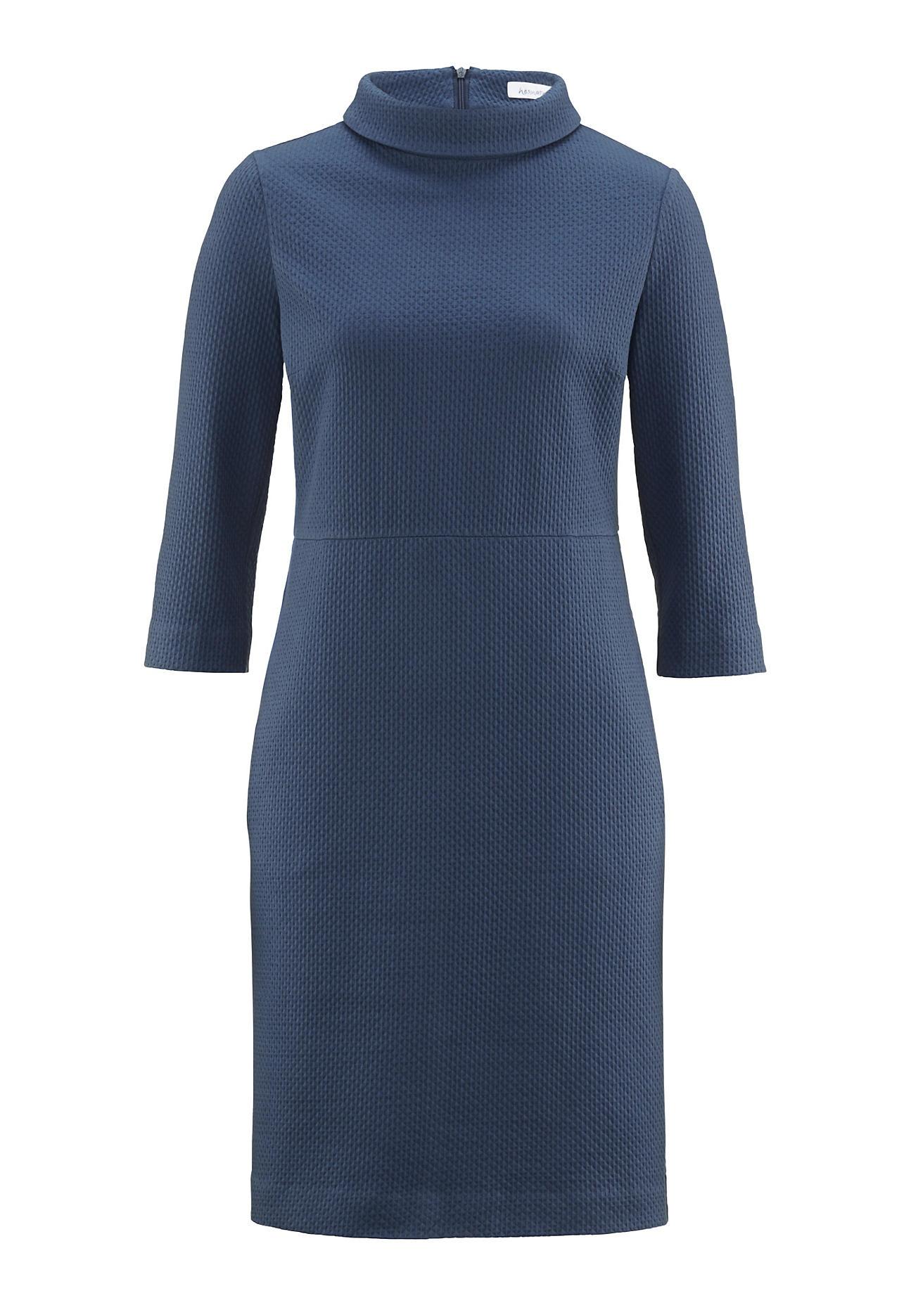 hessnatur Damen Kleid aus Bio Baumwolle – blau – Größe 38