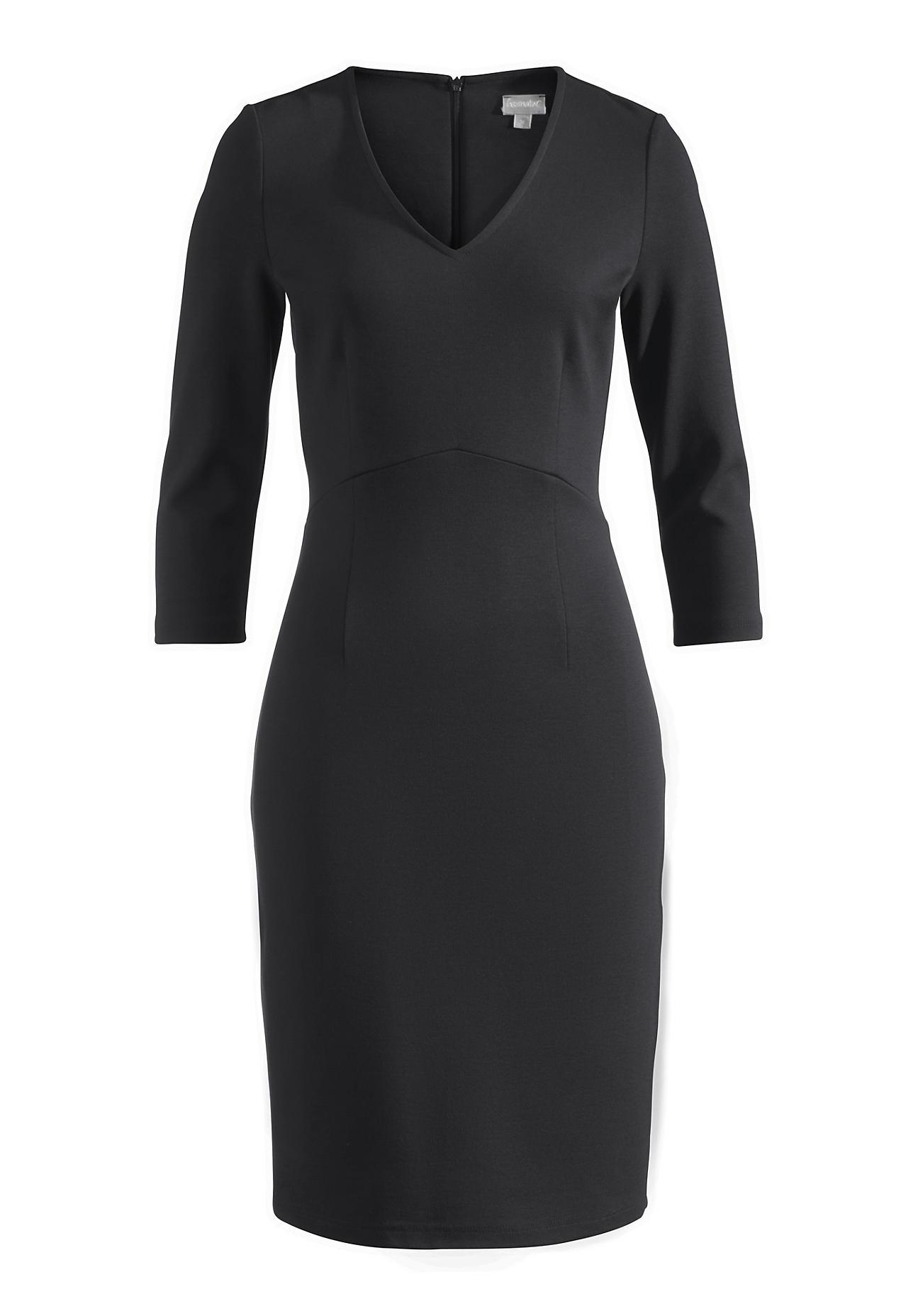 hessnatur -  Damen Kleid aus Bio-Baumwolle mit Modal – schwarz – Größe 48