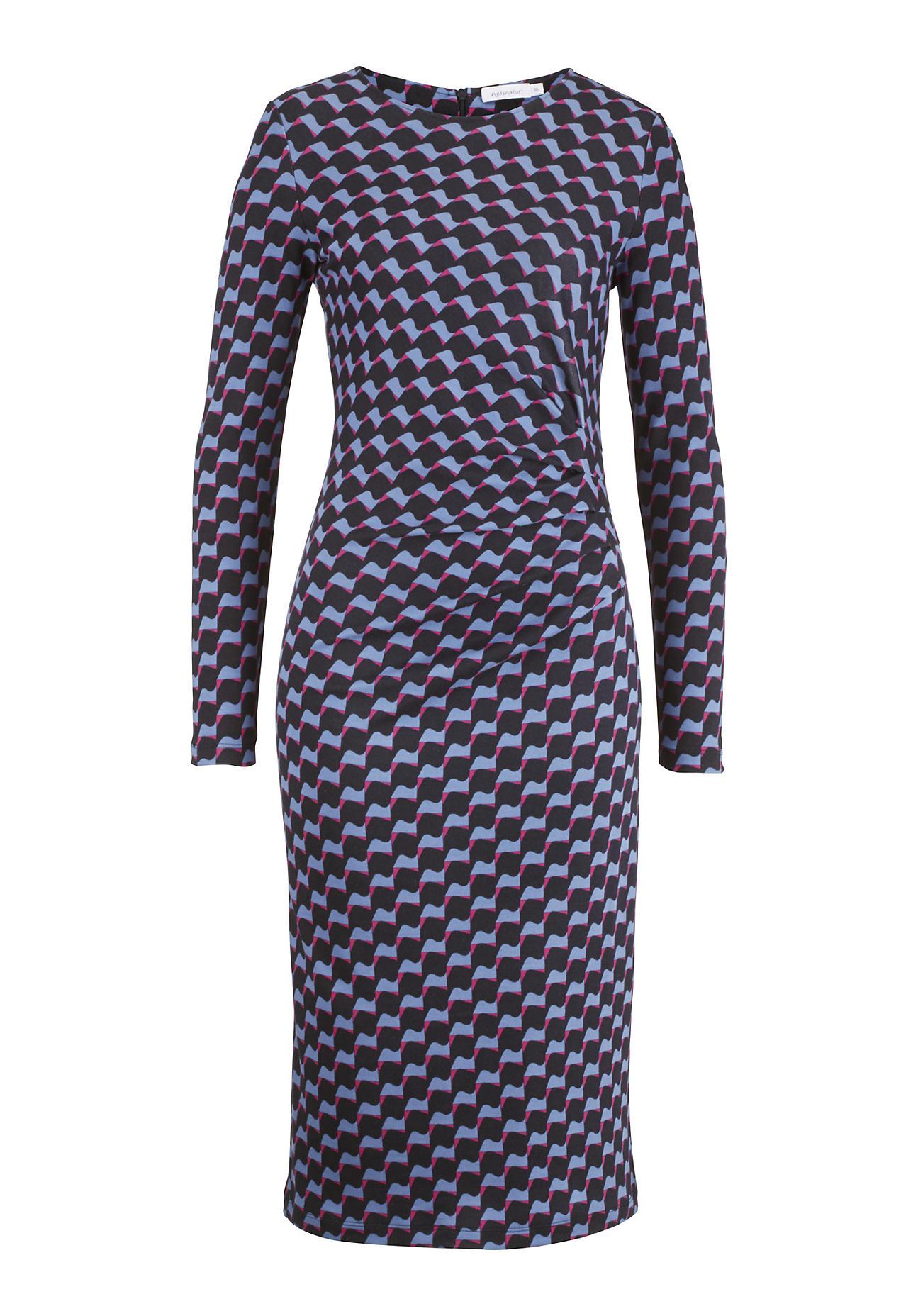 hessnatur Damen Kleid aus Bio Baumwolle und Modal – blau – Größe 38