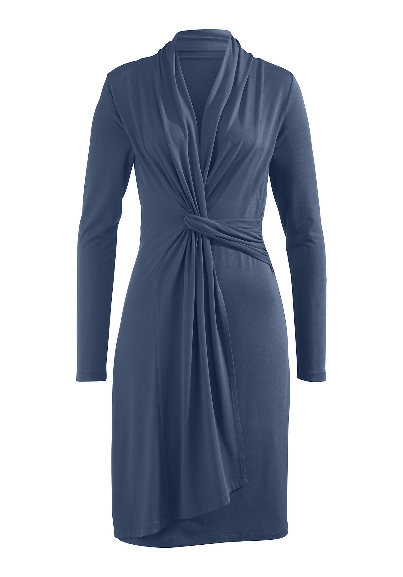 hessnatur Damen Kleid aus Modal – blau – Größe 38