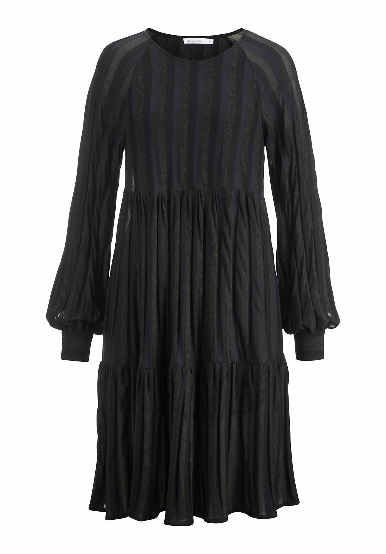Kleider - hessnatur Damen Kleid aus Modal mit Bio Baumwolle und Schurwolle – blau –  - Onlineshop Hessnatur