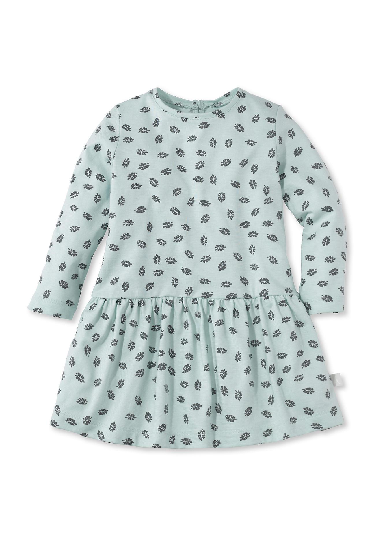 hessnatur baby kleid aus bio baumwolle blau gr e 74 80 kinder babys kleider. Black Bedroom Furniture Sets. Home Design Ideas