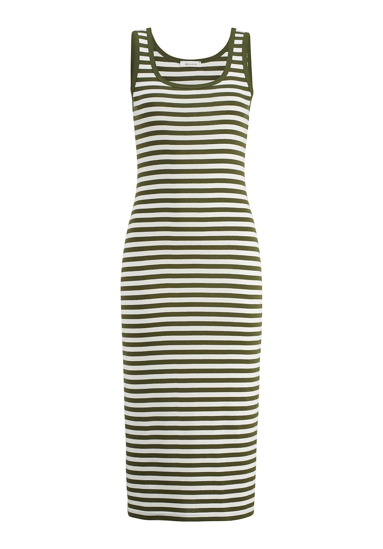 hessnatur -  Damen Kleid aus Bio-Baumwolle – grün – Größe 44