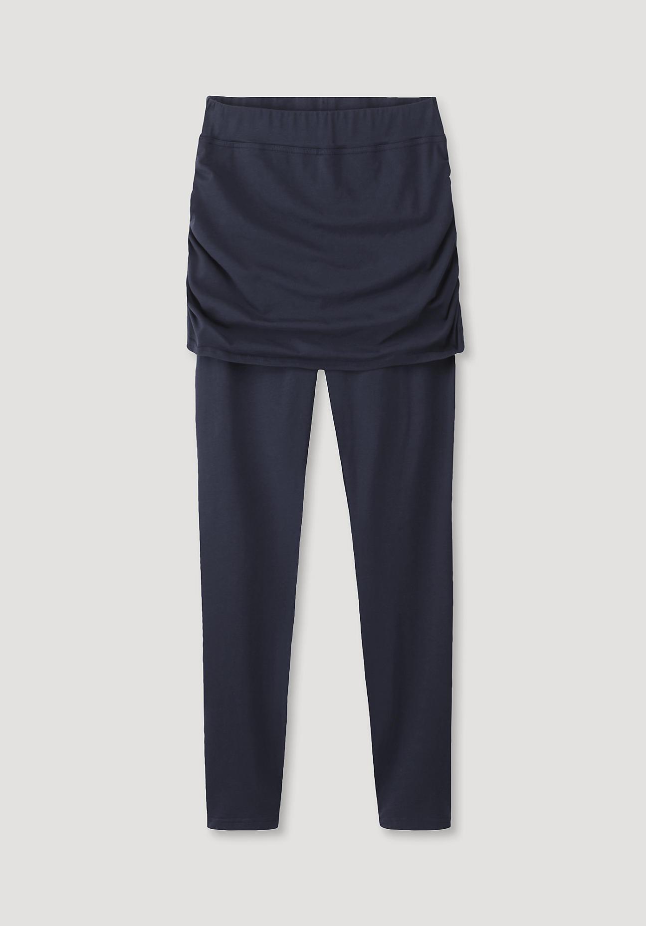 hessnatur -  Loungewear Leggings aus Bio-Baumwolle – blau – Größe 46