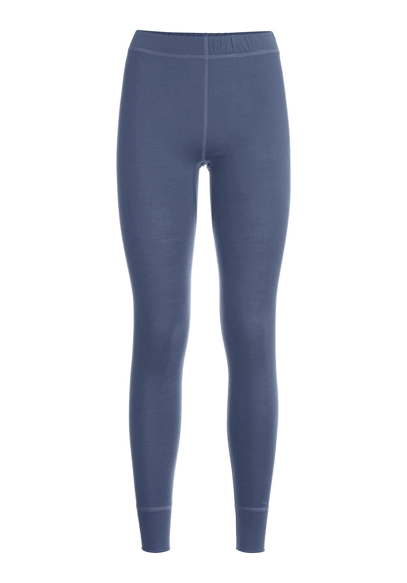 Waesche - hessnatur Damen Leggings aus Bio Merinowolle – blau – Größe 38  - Onlineshop Hessnatur