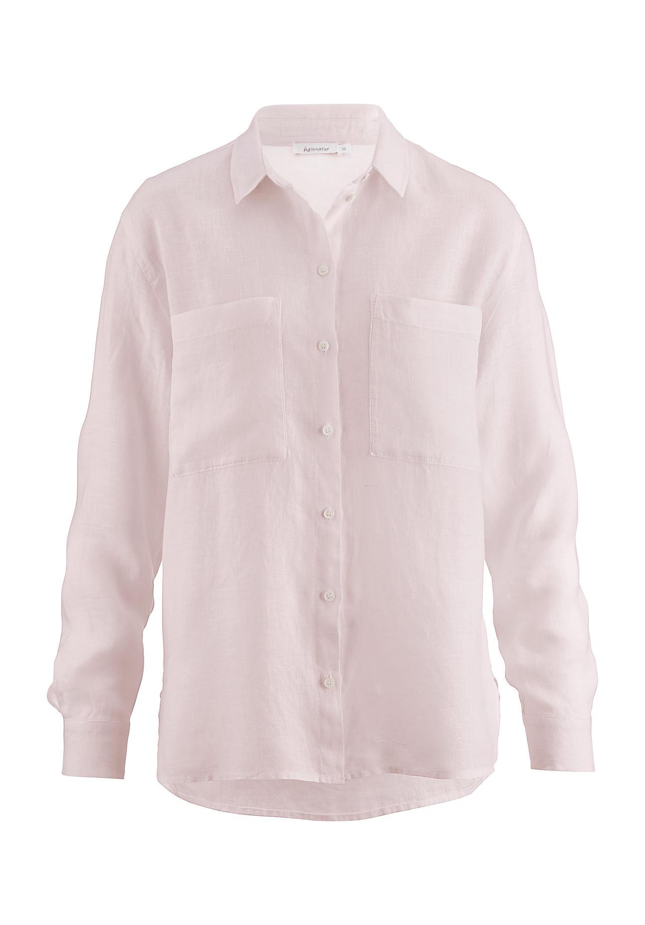 Damen Leinenbluse Bluse aus Leinen in creme rosa von Sheego Gr 40