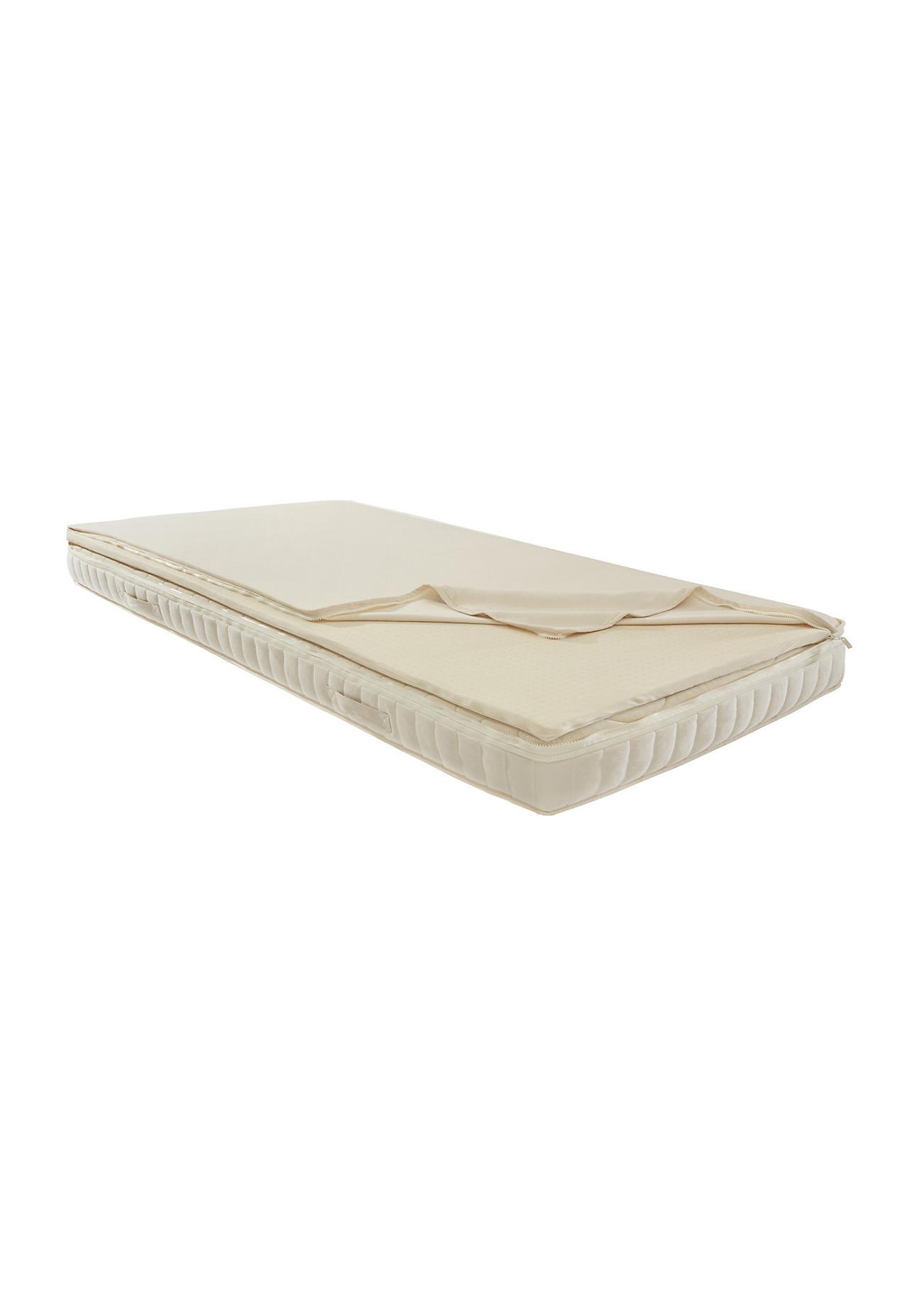 hessnatur Matratzen-Topper Inside Komfort – naturfarben – Größe 90x200 cm fest | Schlafzimmer > Matratzen > Naturmatratzen | hessnatur