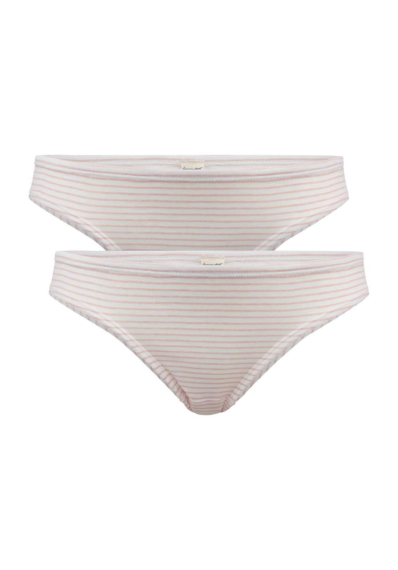 hessnatur Damen Mini Slip PureDAILY im 2er Set aus Bio Baumwolle – rosa – Größe 38