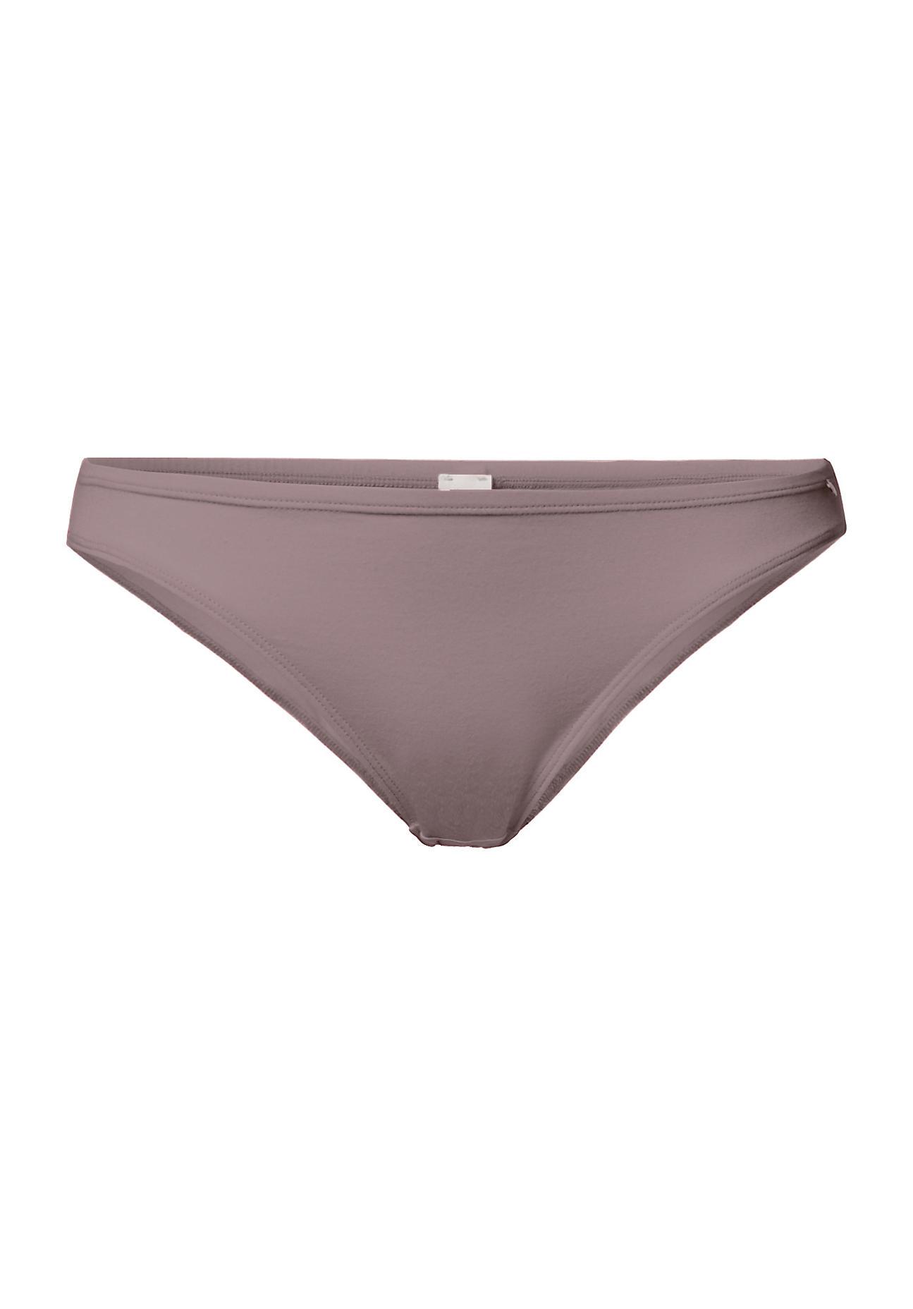 hessnatur Damen Mini Slip aus Bio Baumwolle und Modal – lila – Größe 38