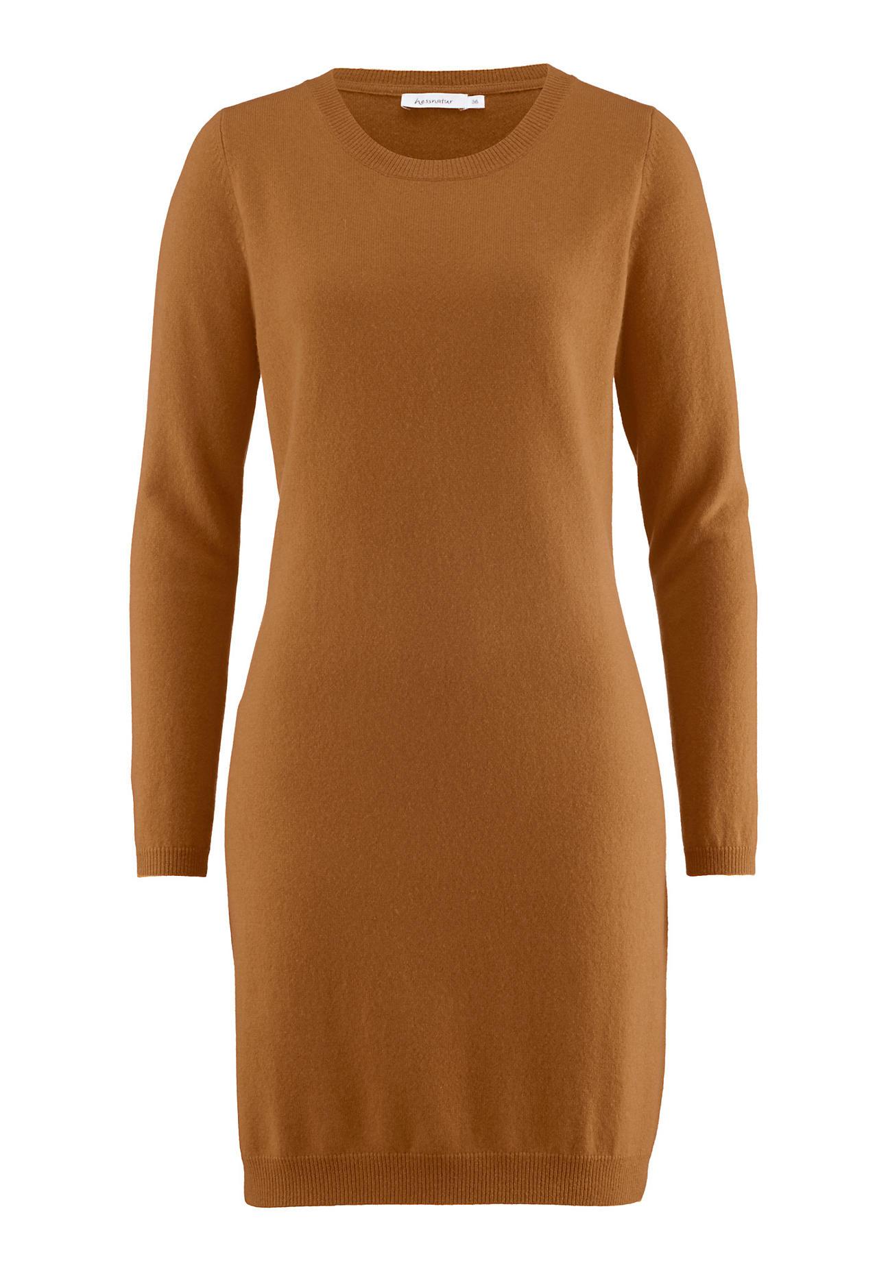 Kleider - hessnatur Damen Minikleid aus Schurwolle mit Kaschmir – lila –  - Onlineshop Hessnatur