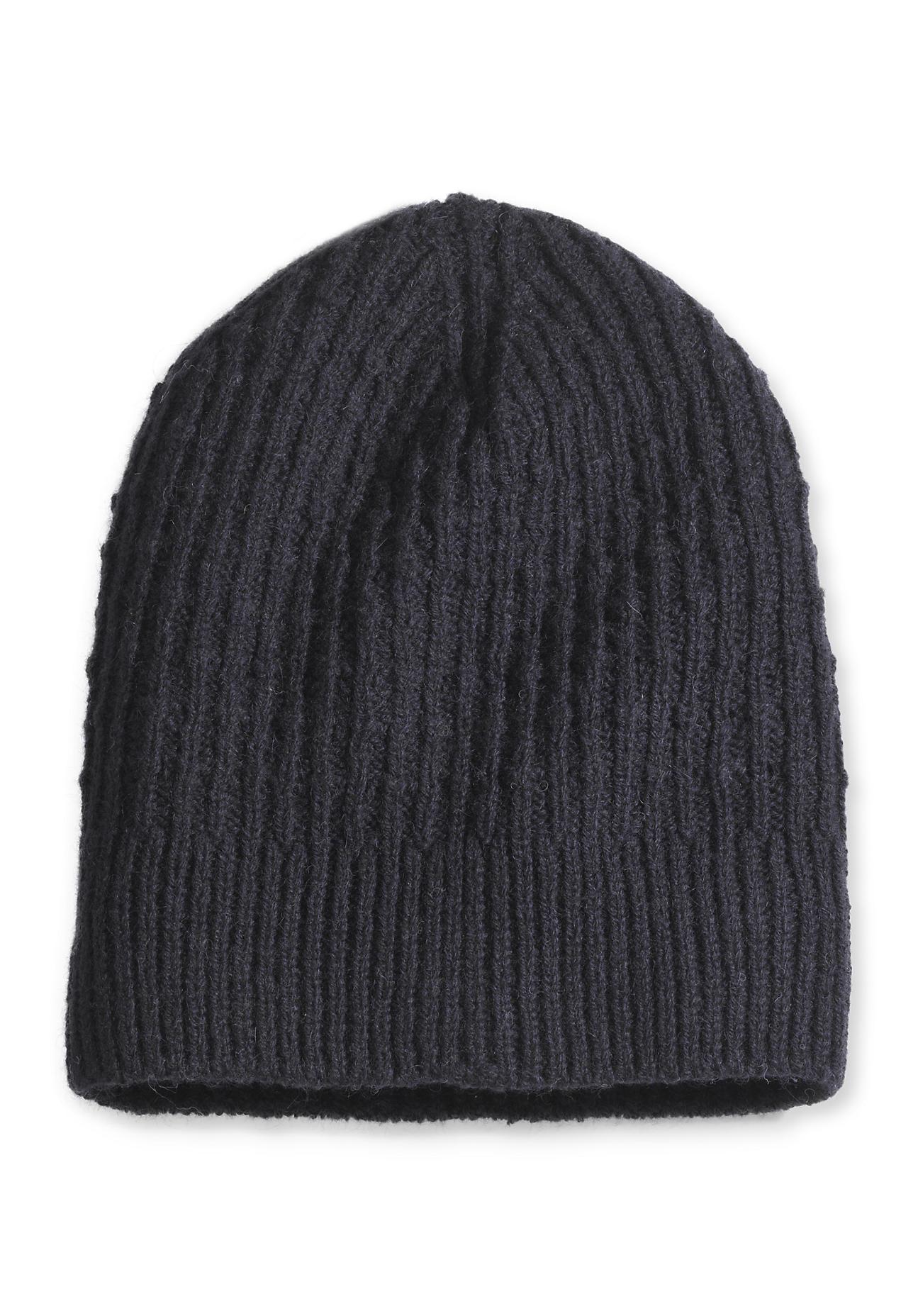 Muetzen - hessnatur Damen Mütze aus Alpaka mit Schurwolle – blau –  - Onlineshop Hessnatur