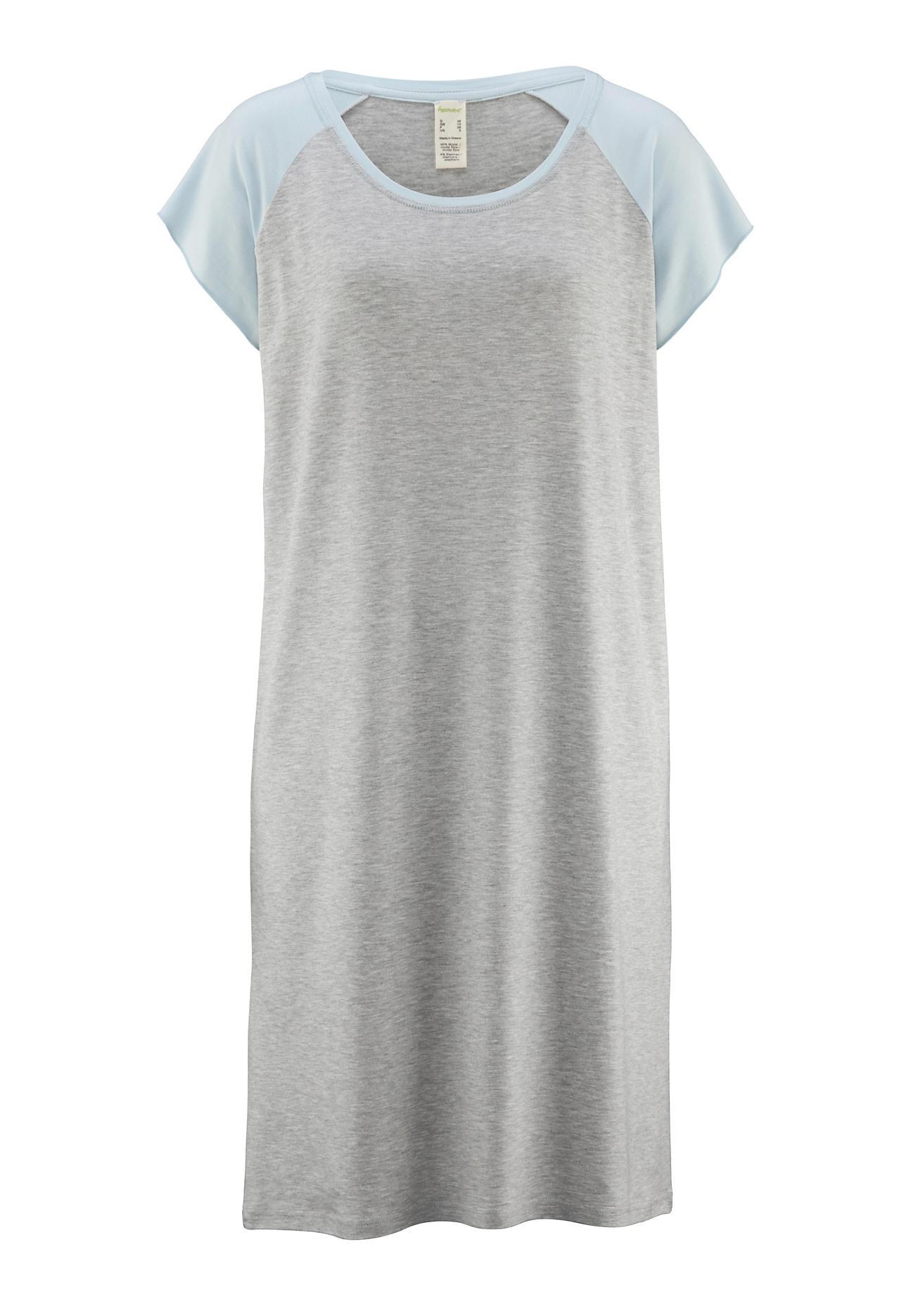 hessnatur Damen Nachthemd aus Modal – grau – Größe 38