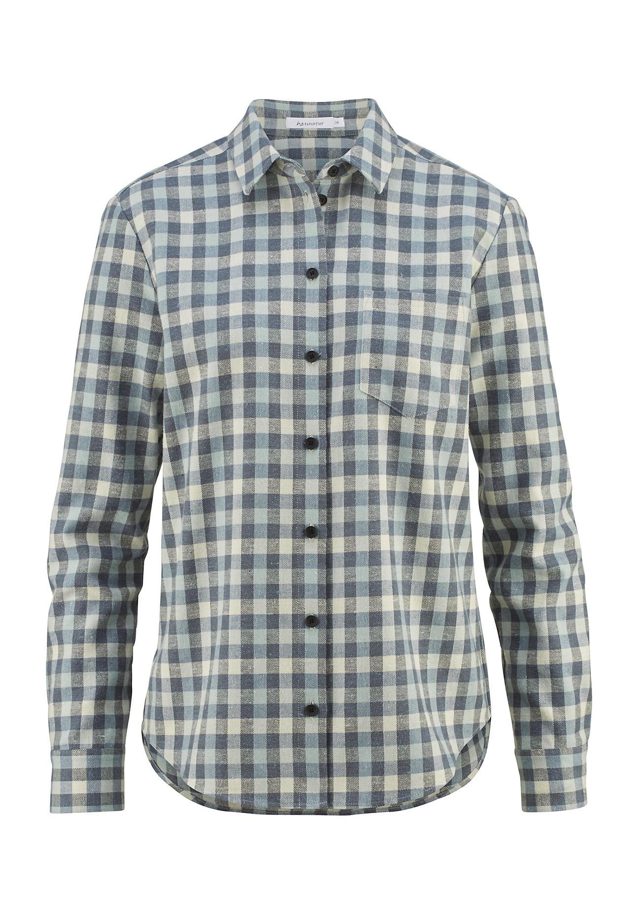 hessnatur Outdoor Outdoor-Hemd für Sie aus Bio-Baumwolle mit Hanf – grün – Größe 42   Bekleidung > Blusen > Wickelblusen   Jade   Baumwolle - Hanf   hessnatur