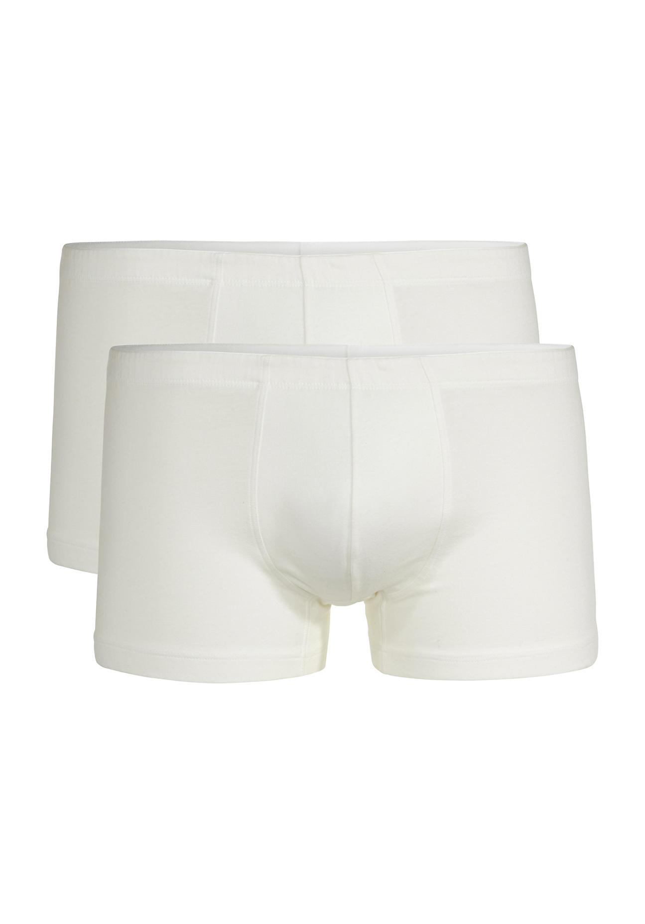 hessnatur Herren Pants PureLUX im 2er Set aus Bio-Baumwolle – weiß – Größe 4
