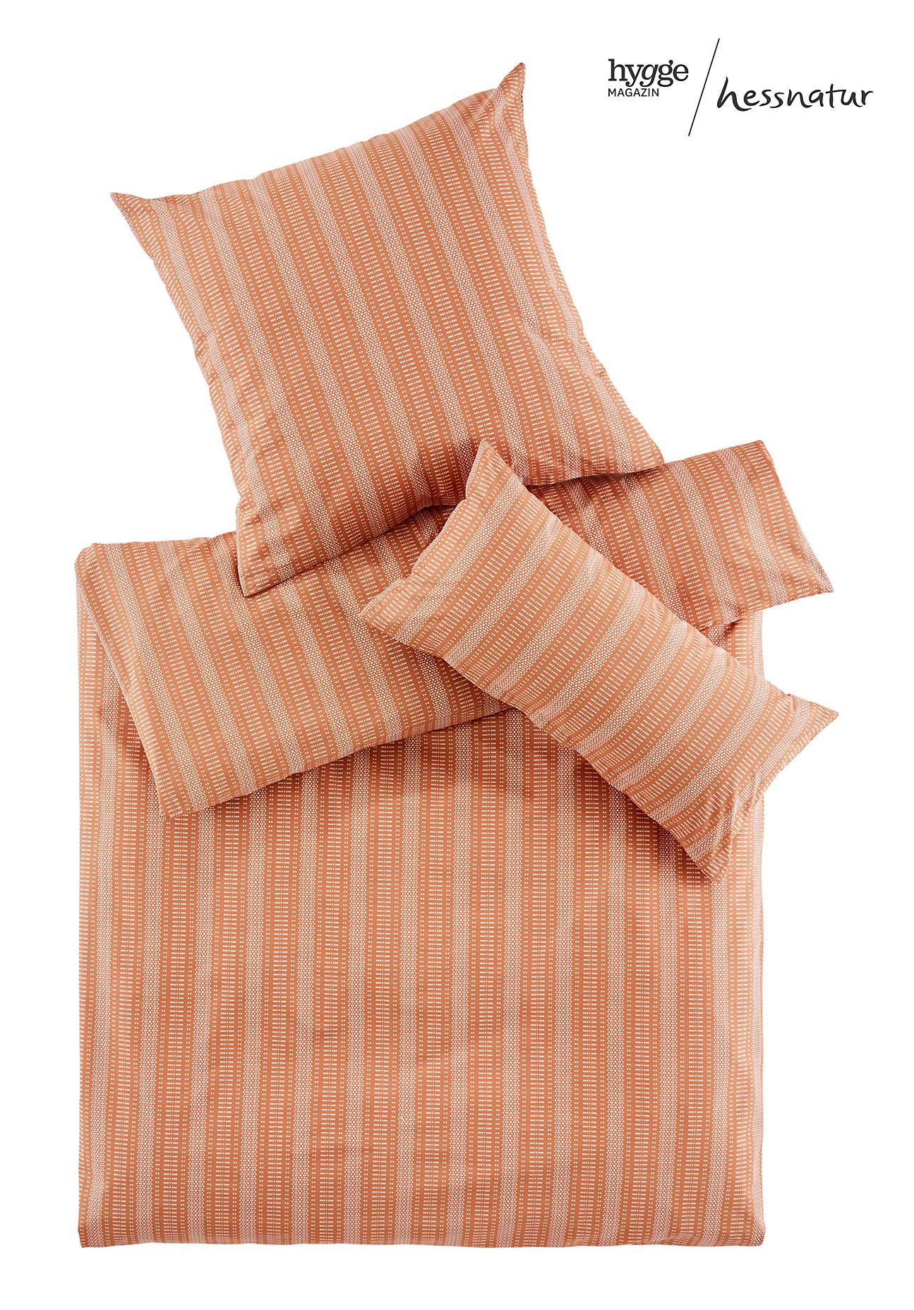 hessnatur Perkal-Bettwäsche Triana aus Bio-Baumwolle – braun – Größe 135x200+40x80 cm
