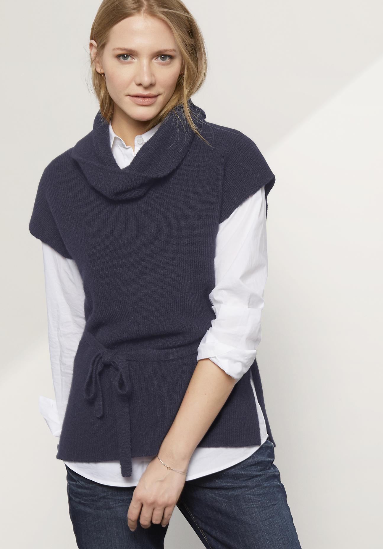 hessnatur Damen Pullover aus Alpaka – blau – Gr...