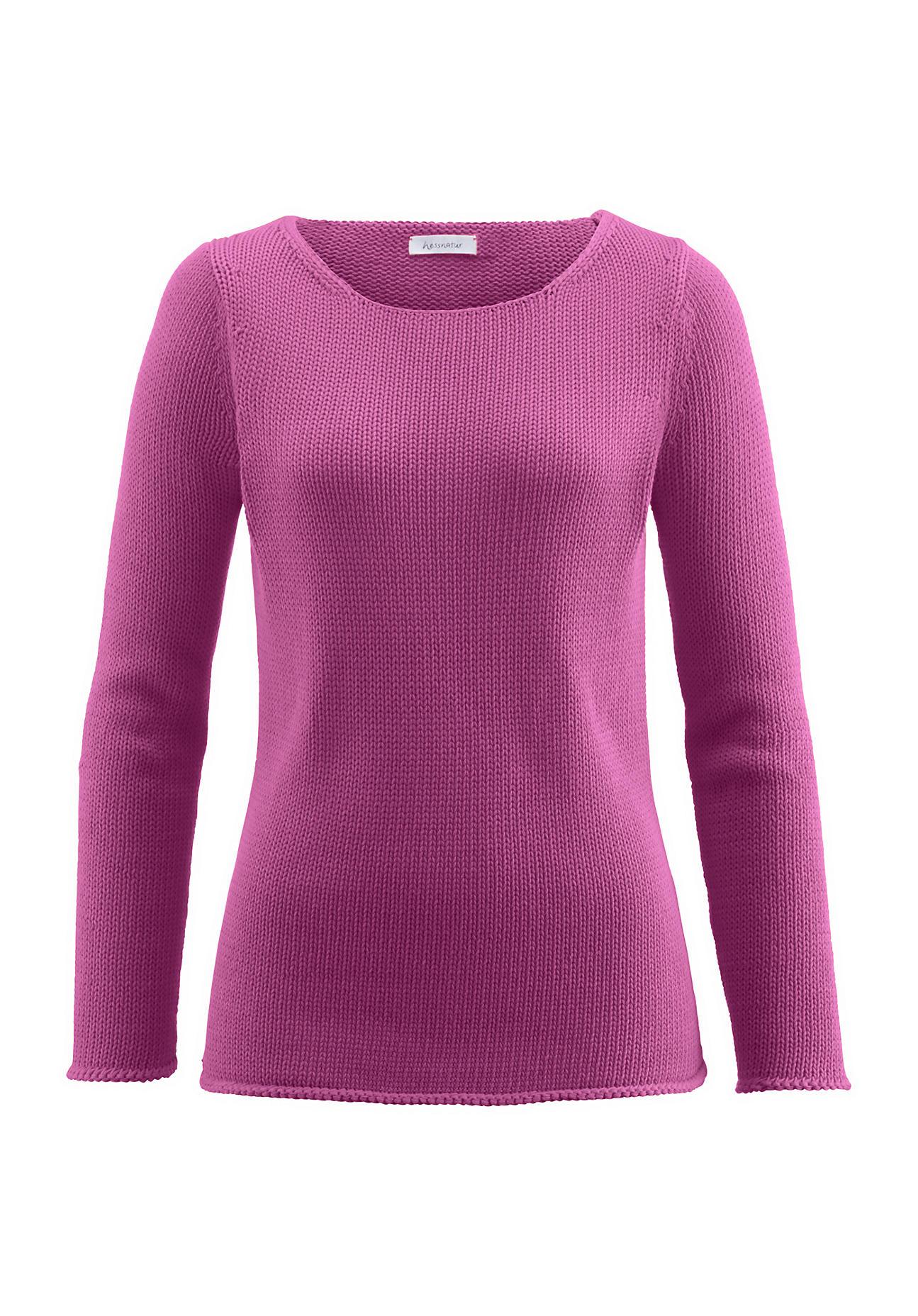 hessnatur Damen Pullover aus Bio Baumwolle – lila – Größe 38