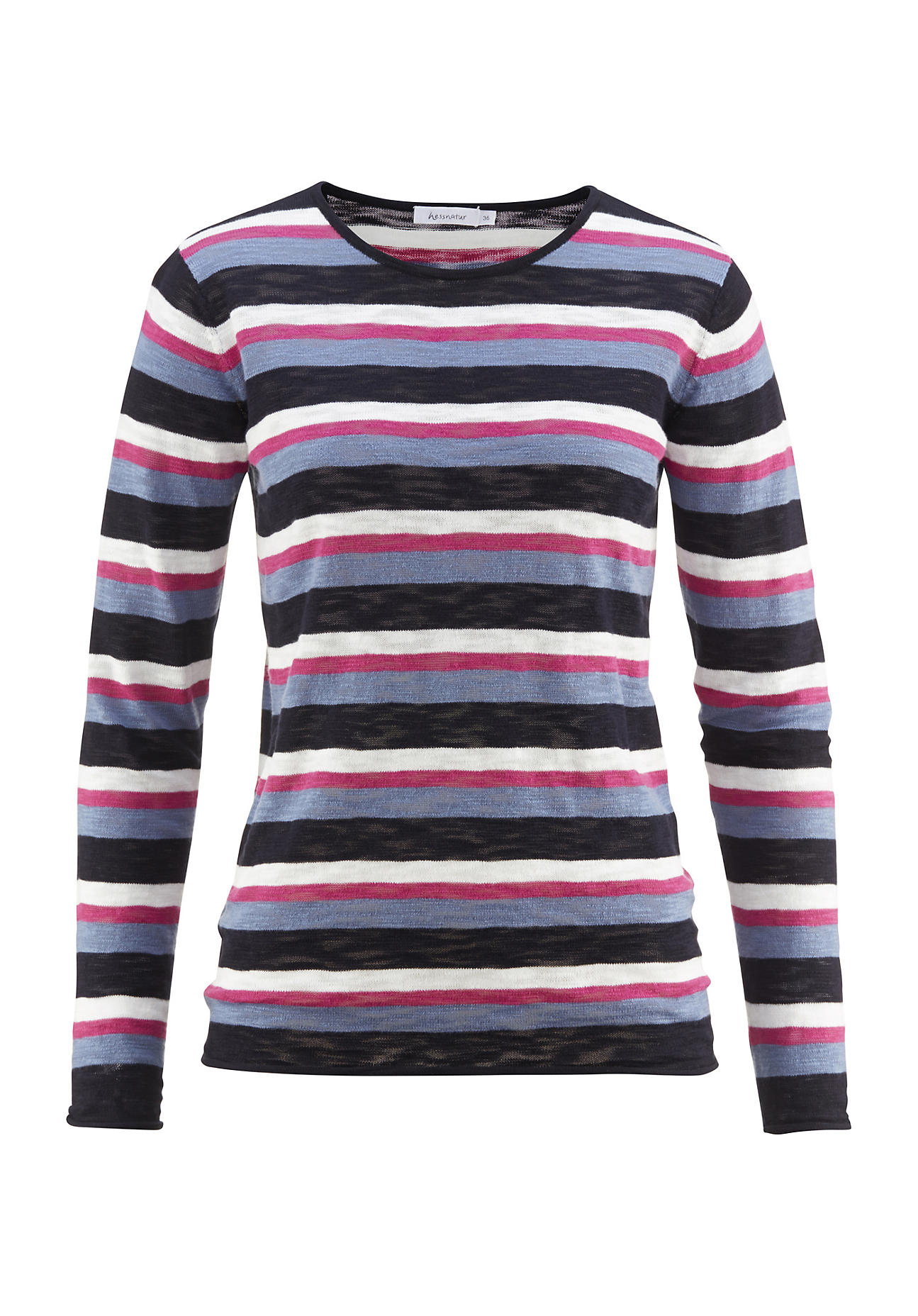 hessnatur Damen Pullover aus Bio Baumwolle – blau – Größe 38